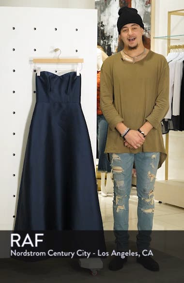 Strapless Sateen Gown, sales video thumbnail