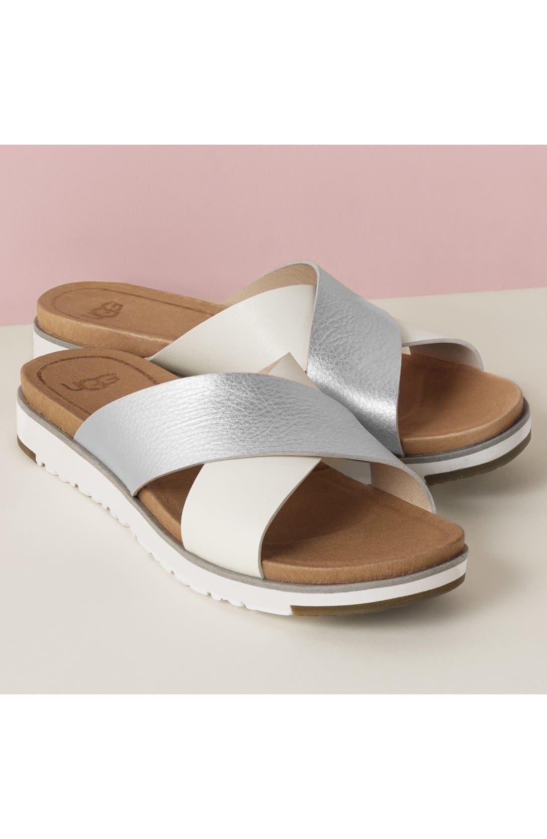 UGG<SUP>®</SUP>, 'Kari' Sandal, Alternate thumbnail 7, color, BLACK