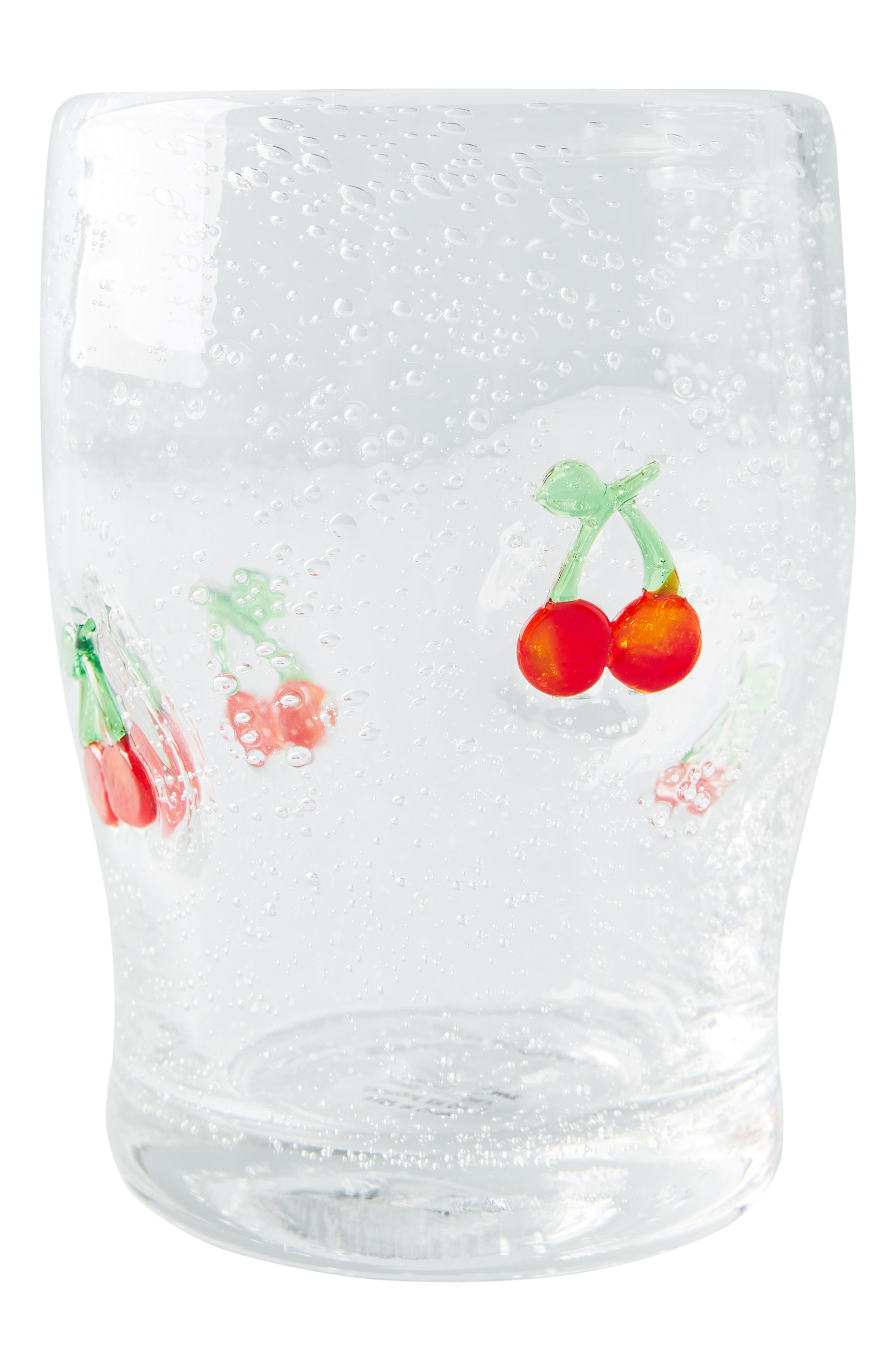 ANTHROPOLOGIE, Gallion Juice Glass, Alternate thumbnail 4, color, CHERRY