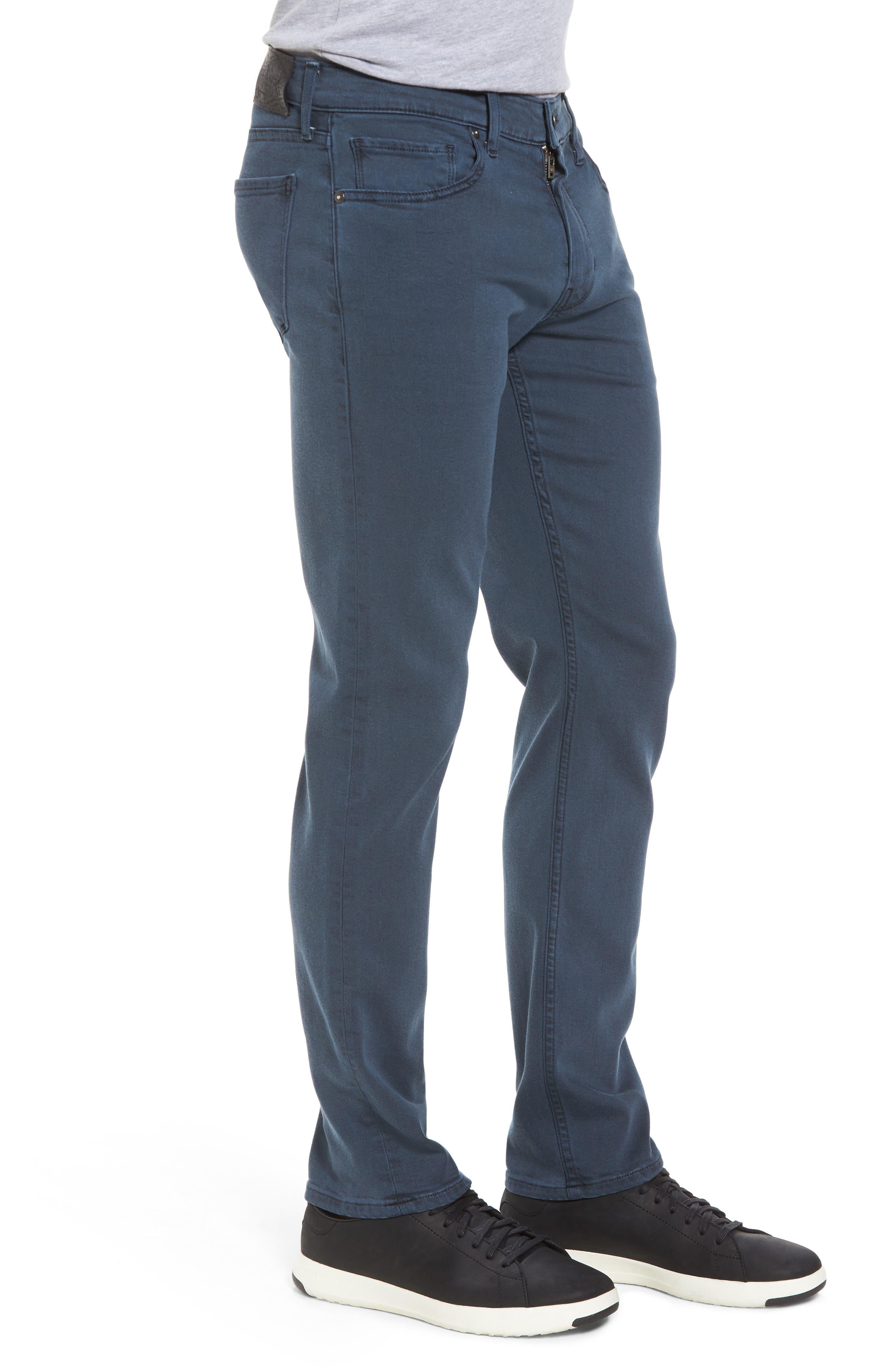 PAIGE, Lennox Slim Fit Jeans, Alternate thumbnail 3, color, 400