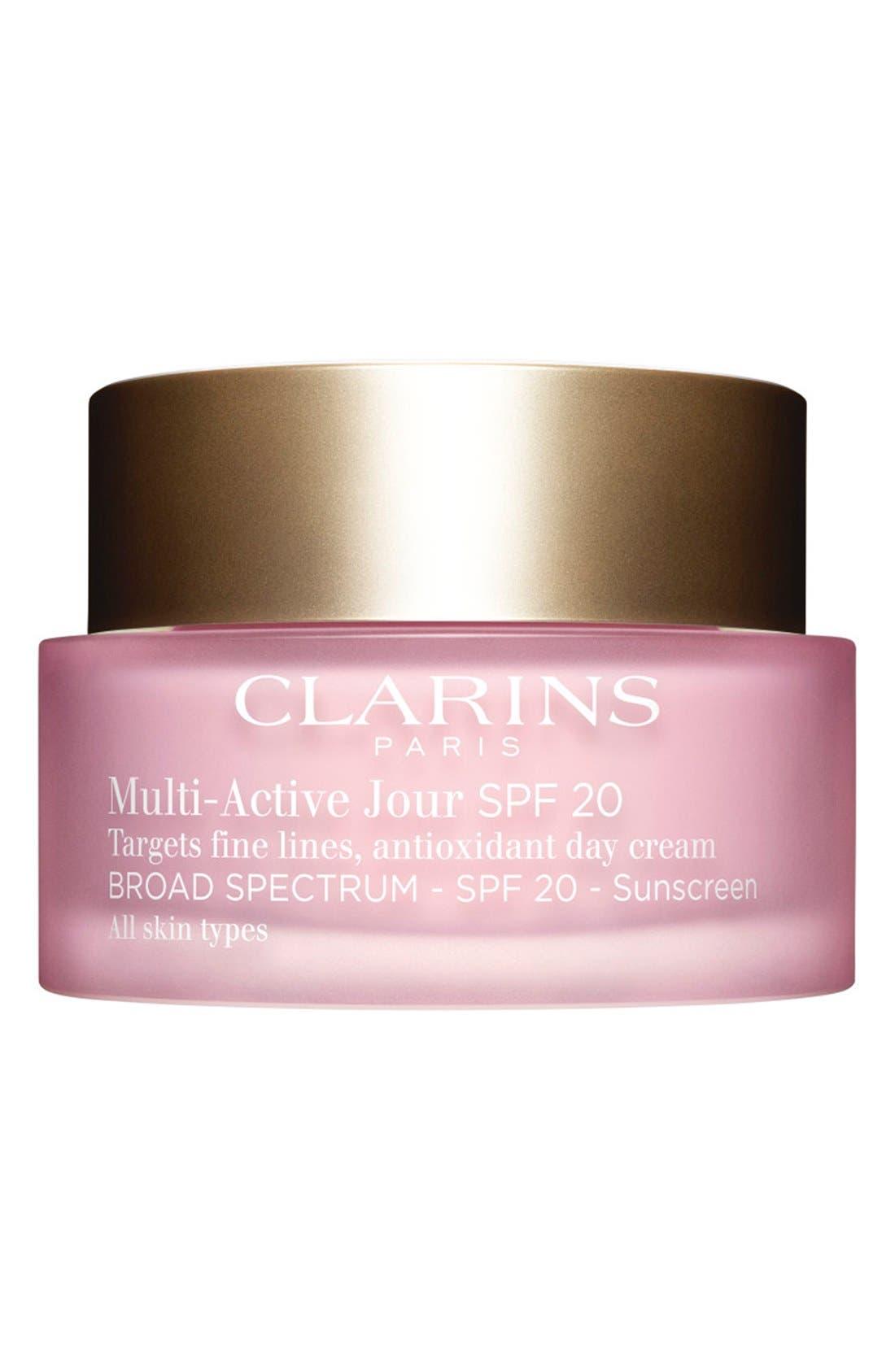 CLARINS, Multi-Active Day Cream SPF 20, Main thumbnail 1, color, NO COLOR