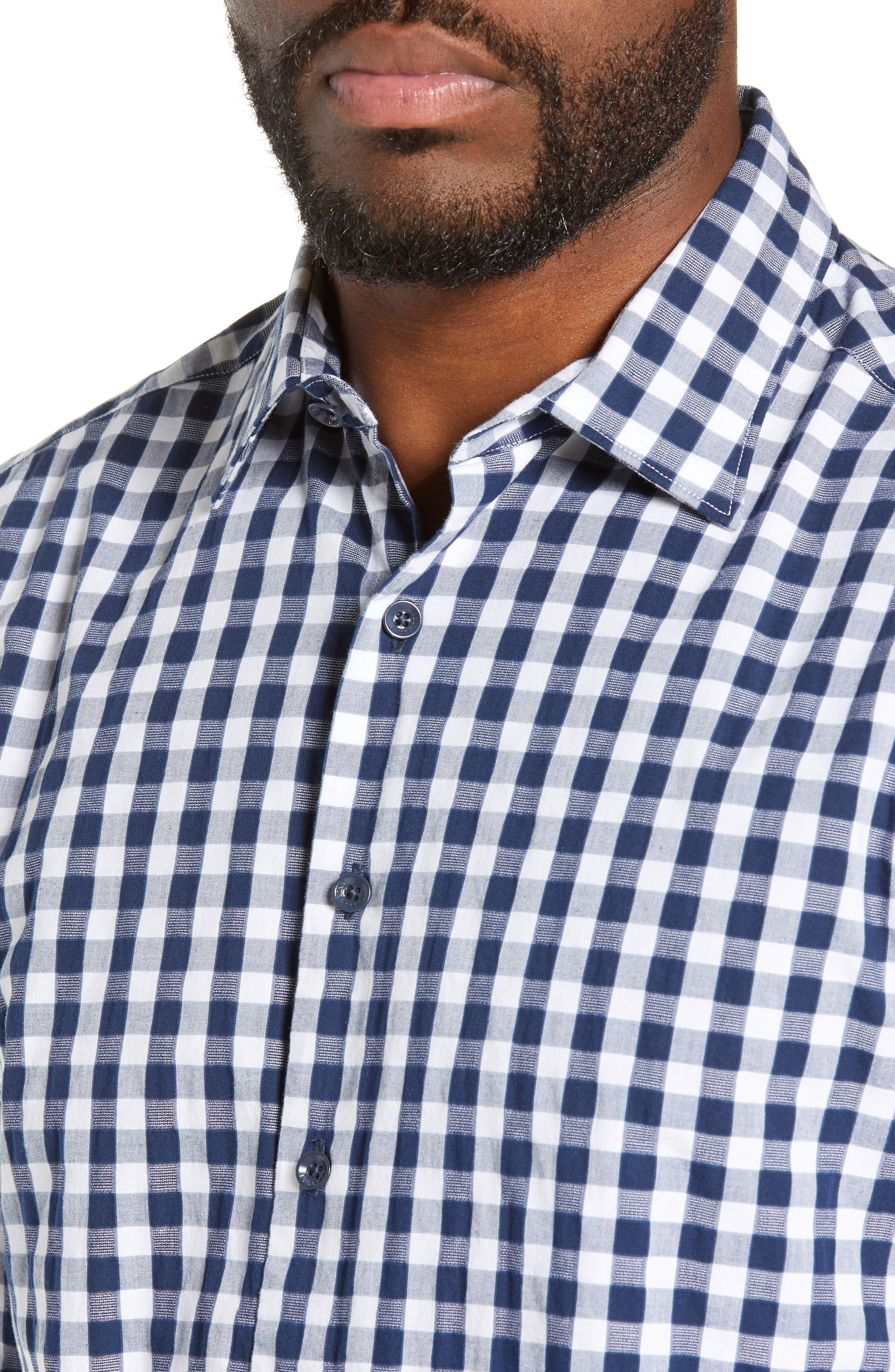 RODD & GUNN, Dixon Check Sport Shirt, Alternate thumbnail 2, color, NAVY