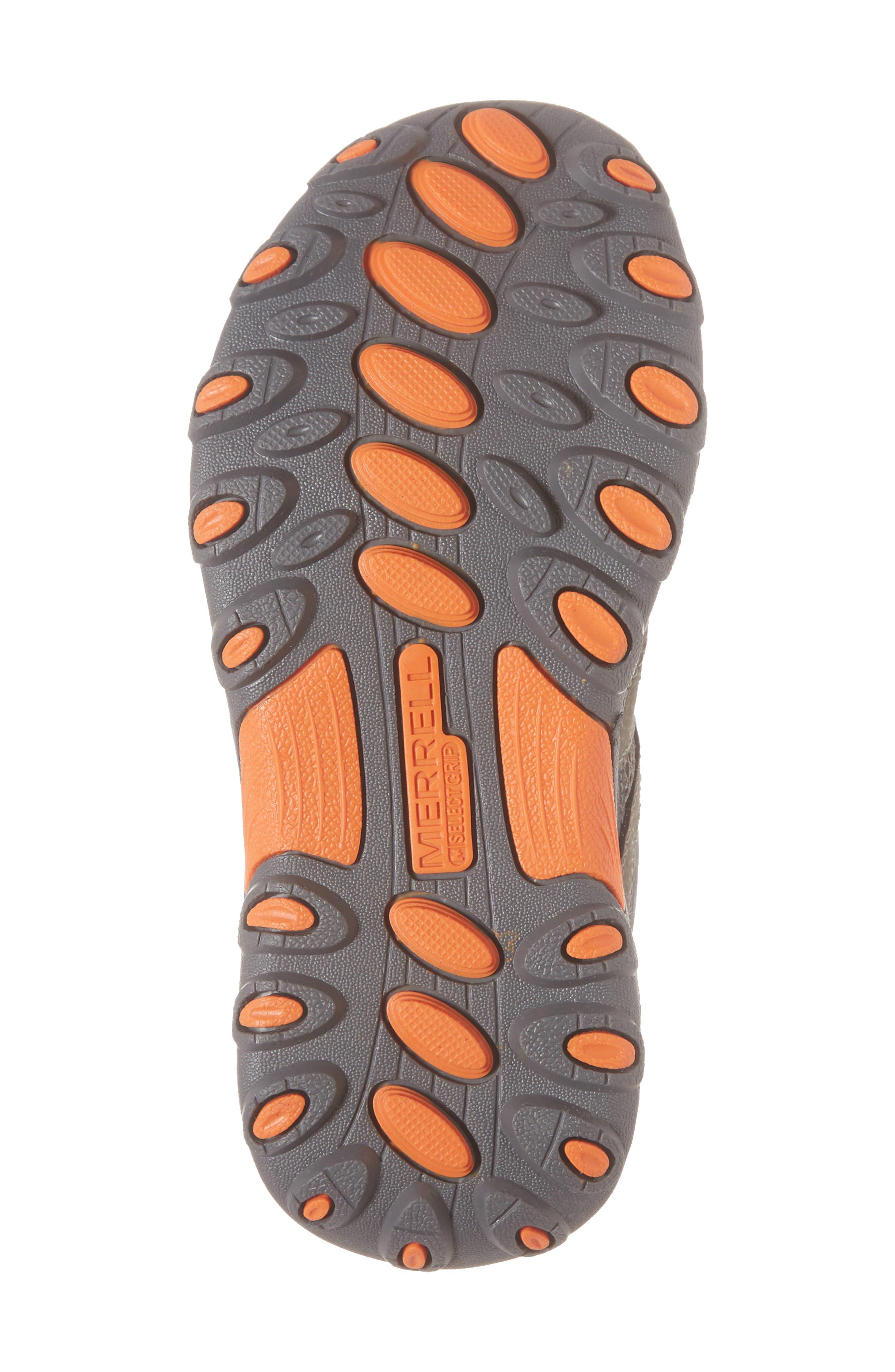MERRELL, Trail Chaser Sneaker, Alternate thumbnail 6, color, GUNSMOKE/ ORANGE