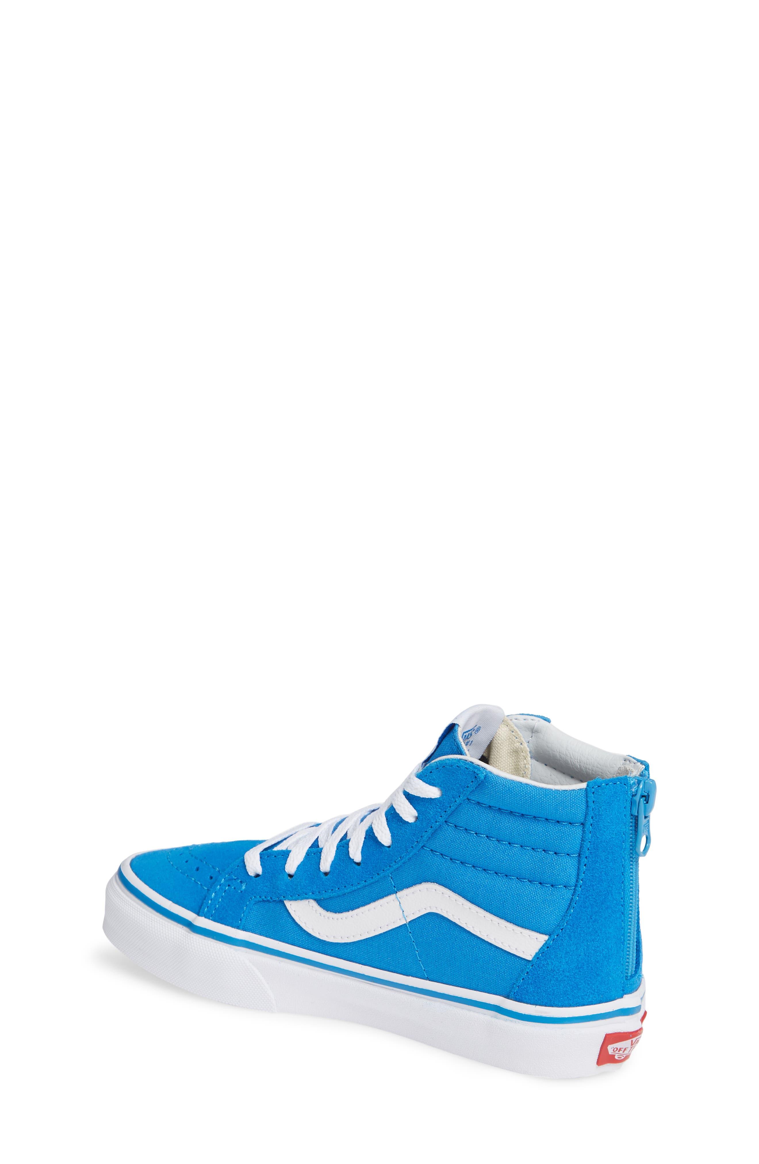 VANS, 'Sk8-Hi' Sneaker, Alternate thumbnail 2, color, INDIGO BUNTING/ TRUE WHITE