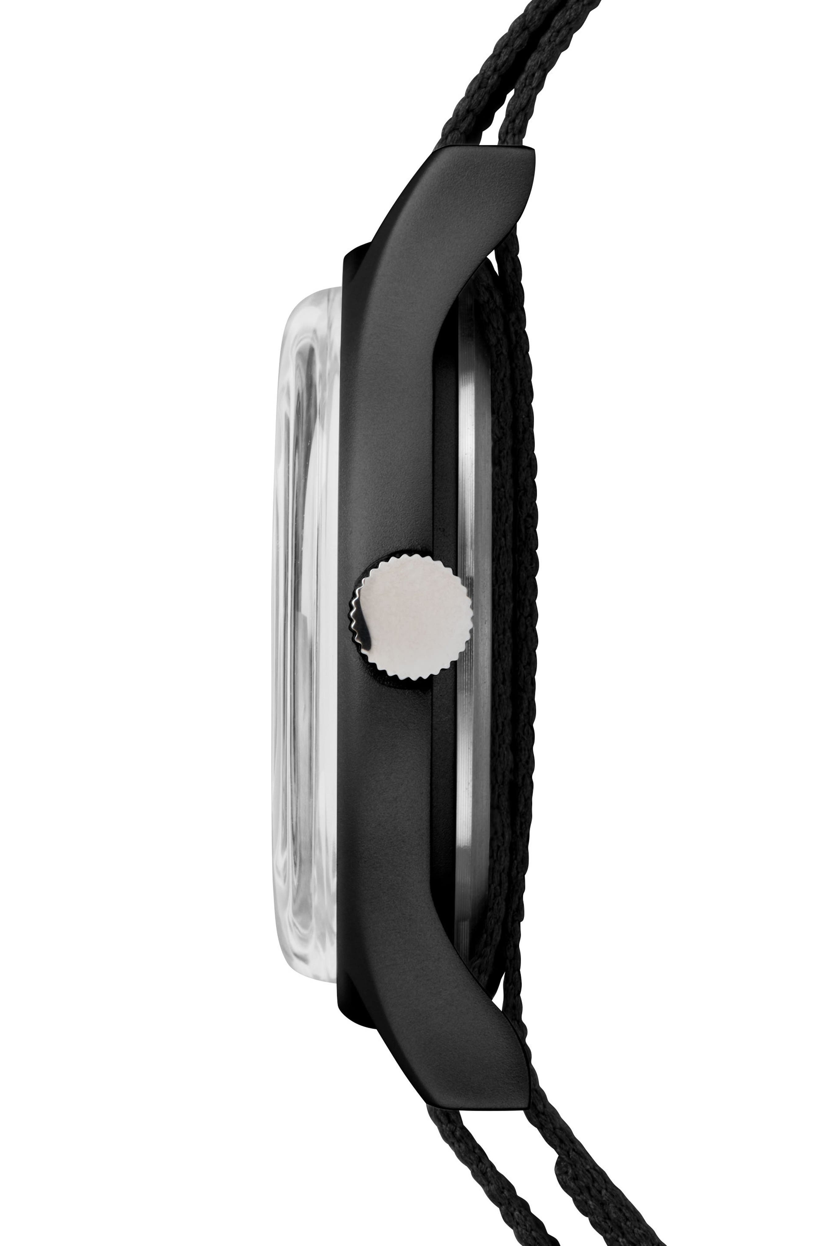 TIMEX<SUP>®</SUP>, Timex MK1 Nylon Strap Watch, 40mm, Alternate thumbnail 2, color, BLACK