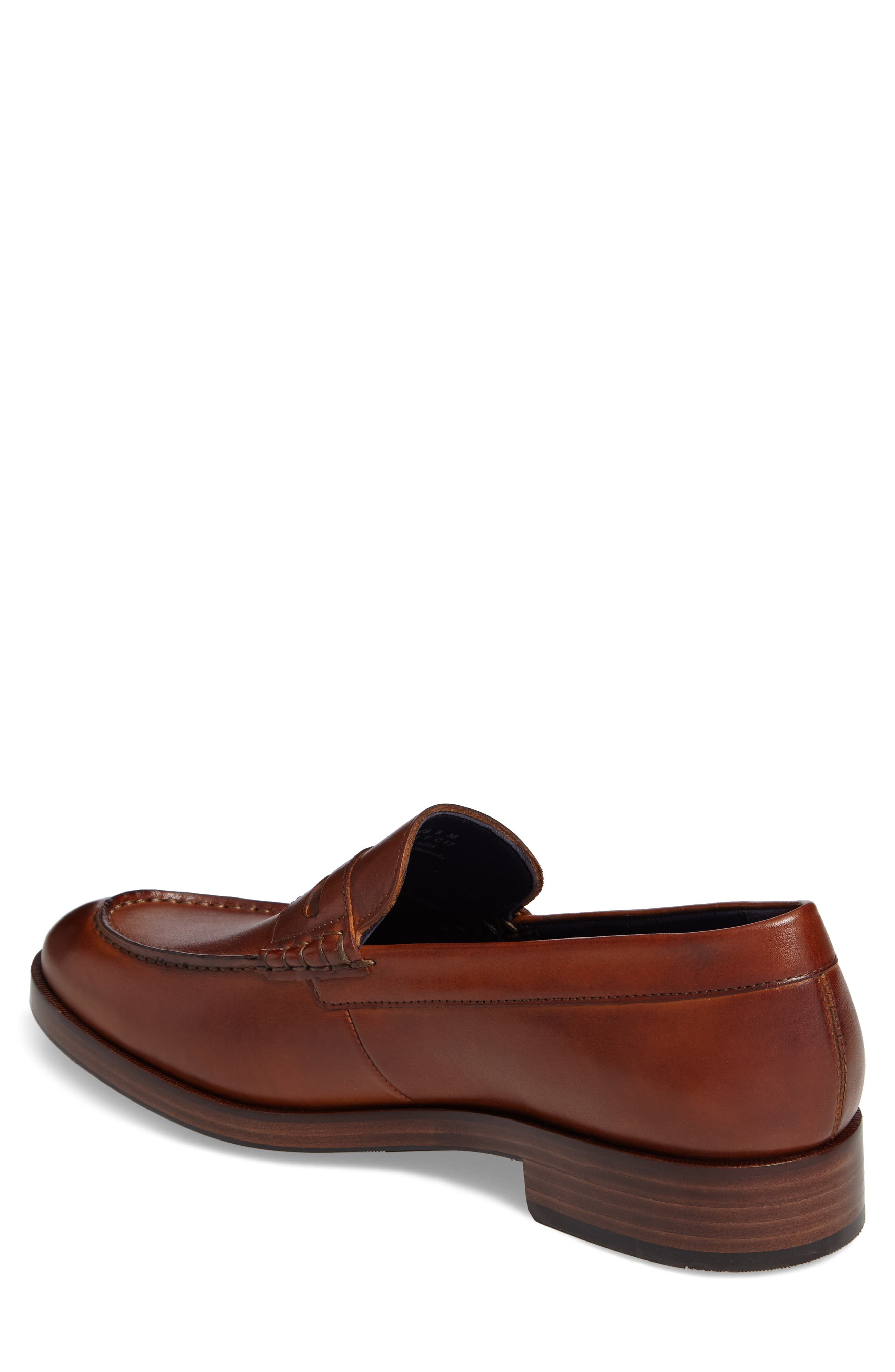 COLE HAAN, Harrison Grand Penny Loafer, Alternate thumbnail 2, color, COGNAC/ DARK NATURAL LEATHER