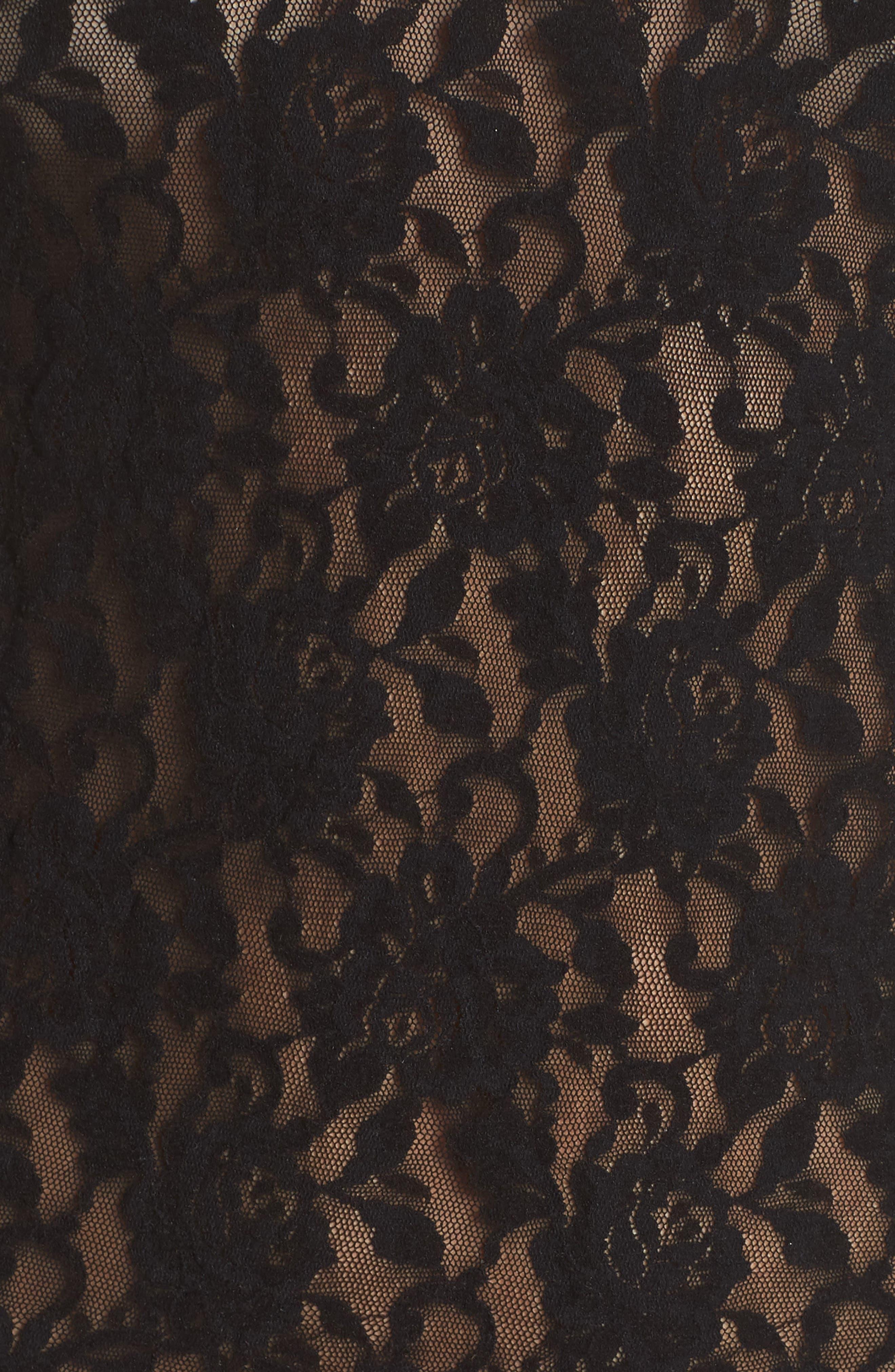 HANKY PANKY, Signature Lace 2-Way Top, Alternate thumbnail 6, color, 001