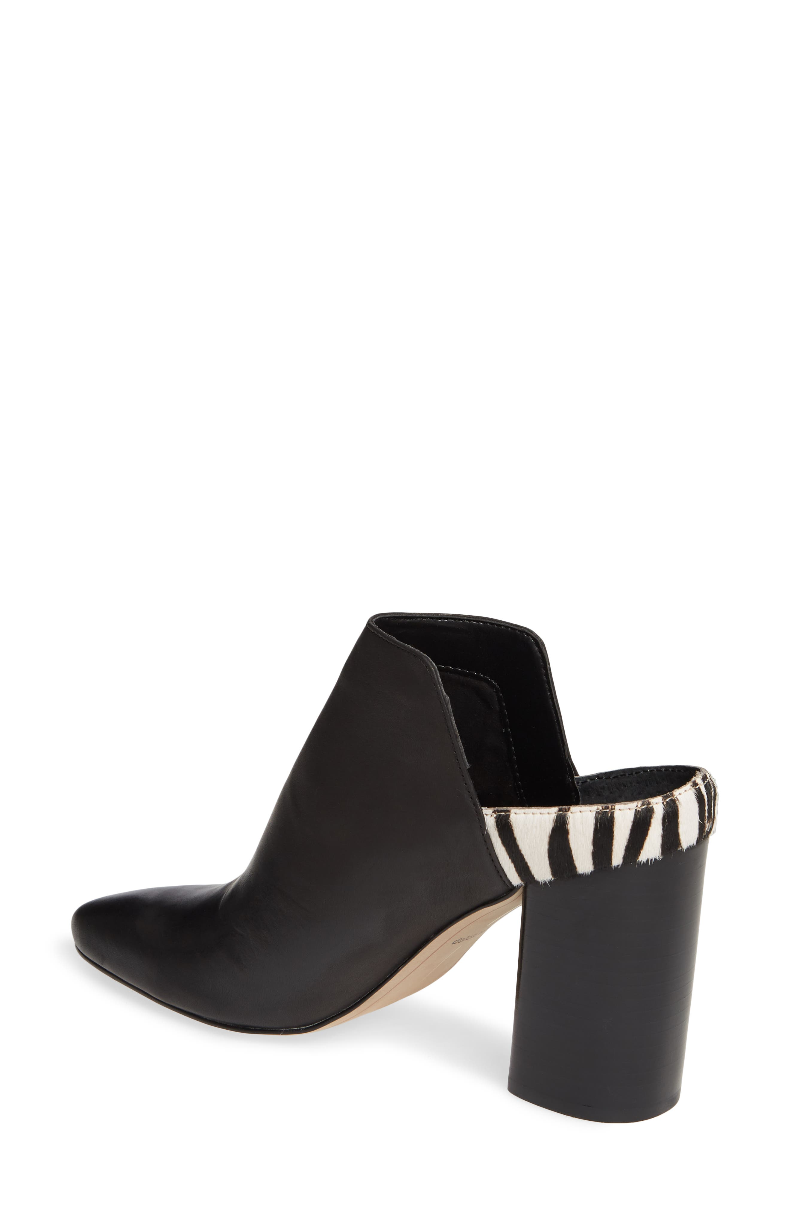 DOLCE VITA, Renly Mule, Alternate thumbnail 2, color, ZEBRA PRINT CALF HAIR/ LEATHER