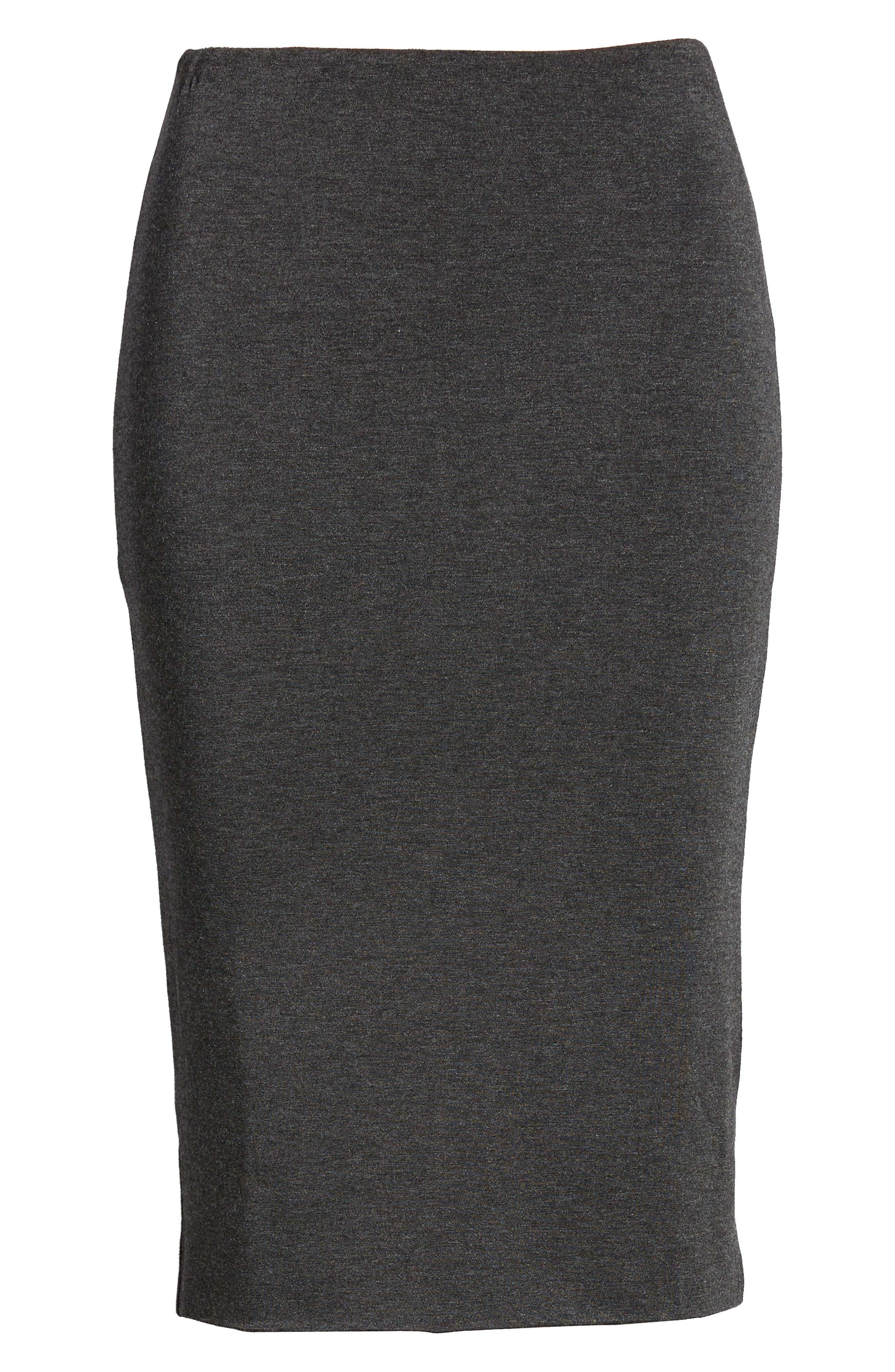 AMOUR VERT, 'Yuma' Stretch Knit Skirt, Alternate thumbnail 6, color, ANTHRACITE