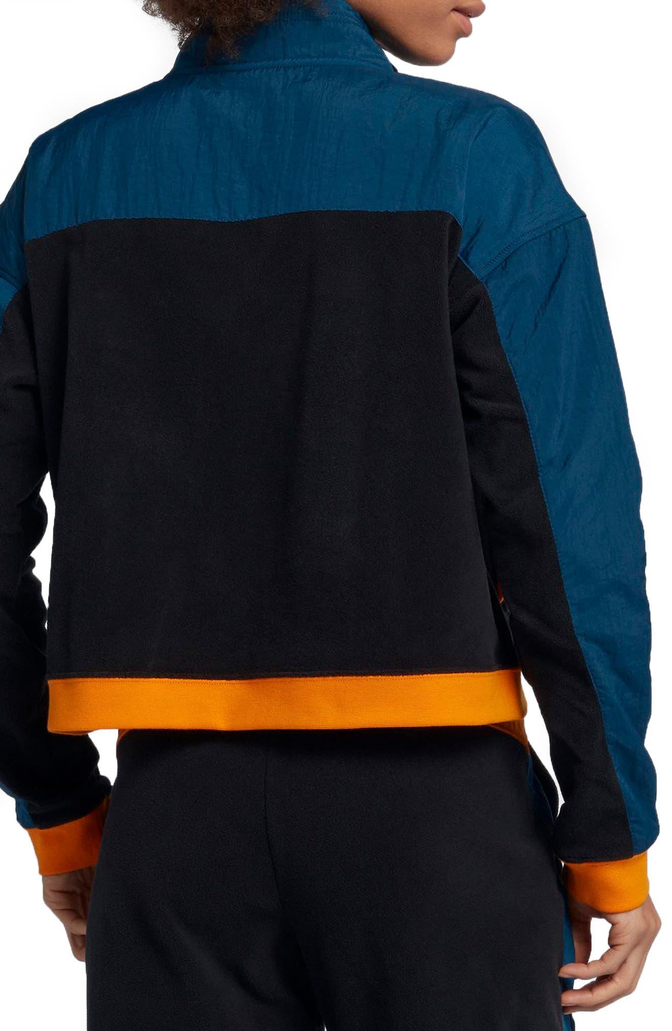 NIKE, Sportswear Women's Half Zip Top, Alternate thumbnail 2, color, 010