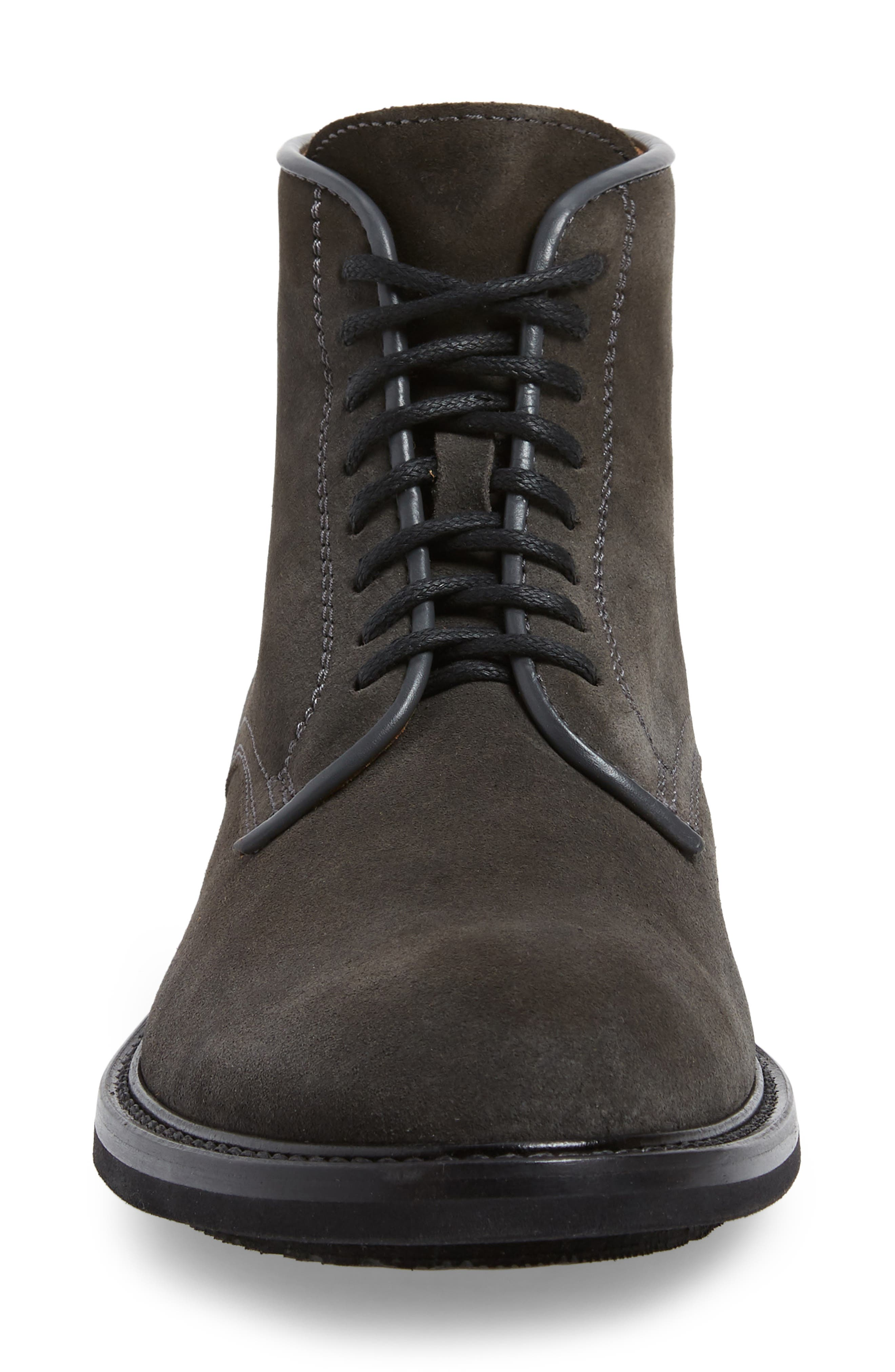 AQUATALIA, Renzo Weatherproof Lace-Up Boot, Alternate thumbnail 4, color, DARK CHARCOAL
