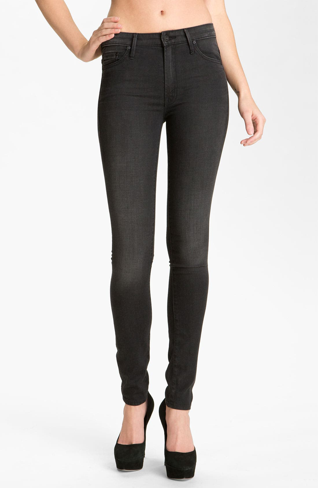 MOTHER, 'The Looker' Skinny Stretch Jeans, Main thumbnail 1, color, 001