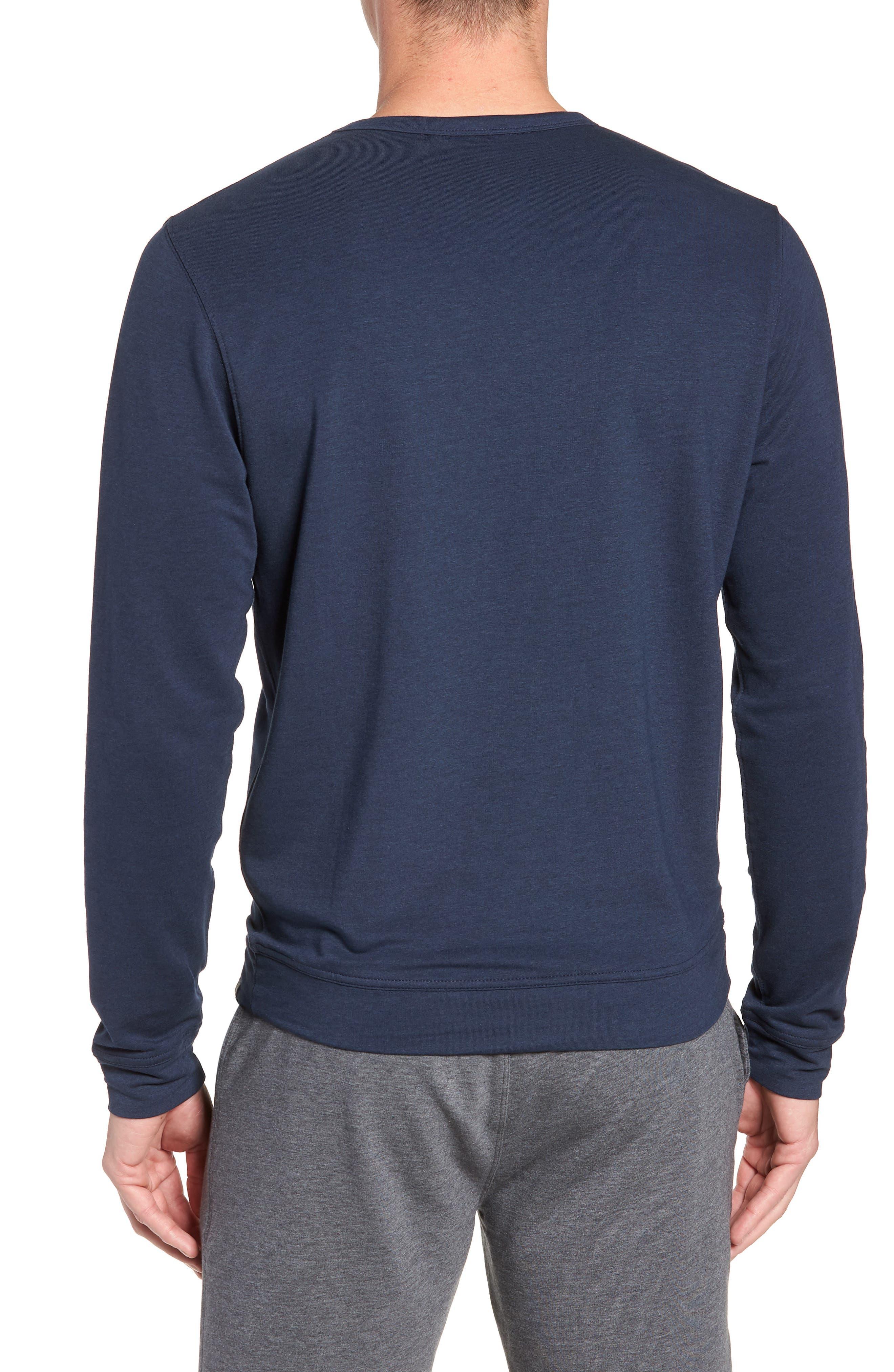 TASC PERFORMANCE, Legacy Crewneck Semi Fitted Sweatshirt, Alternate thumbnail 2, color, CLASSIC NAVY