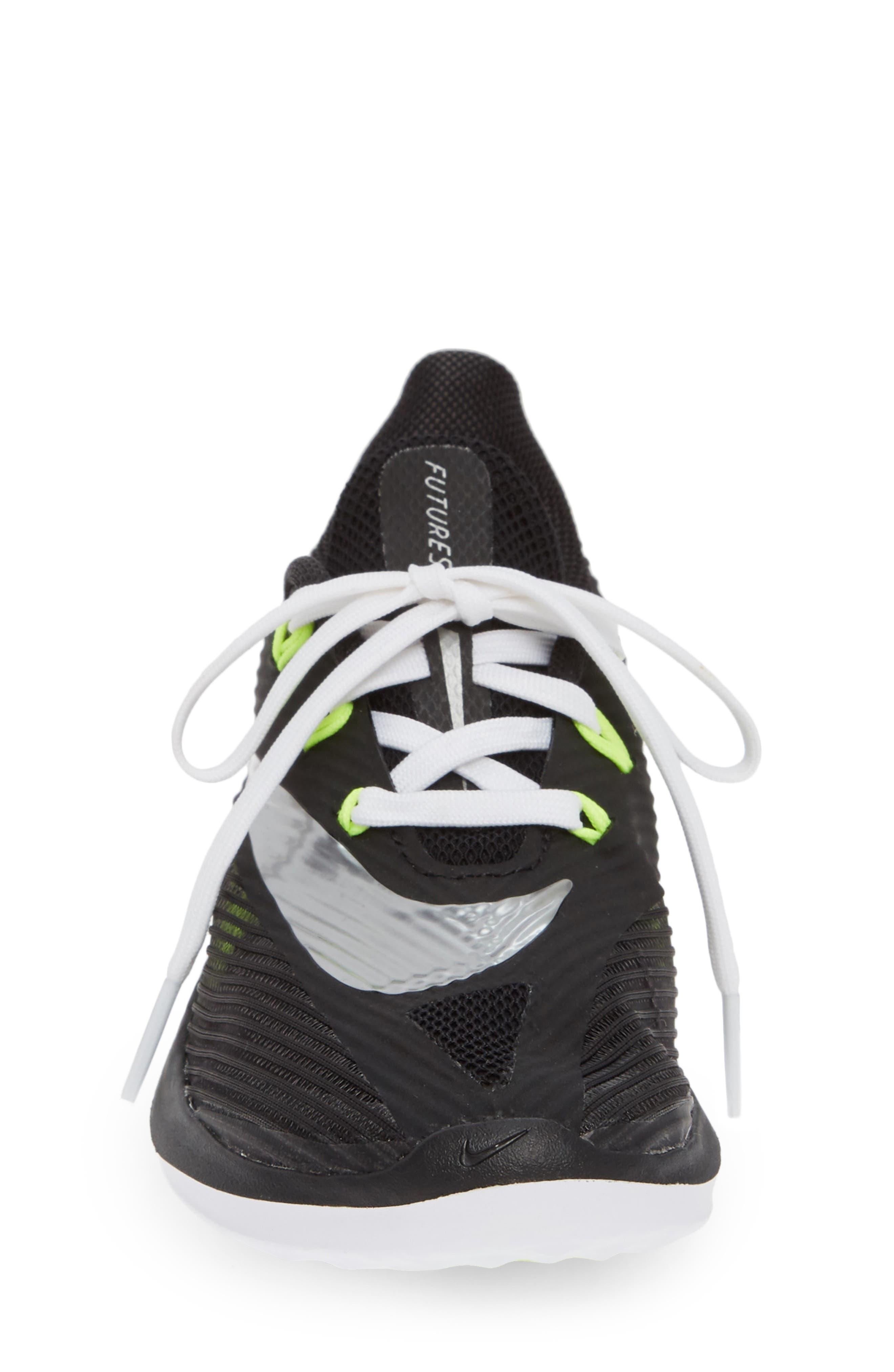 NIKE, Future Speed Running Shoe, Alternate thumbnail 4, color, BLACK/ CHROME-WHITE-VOLT