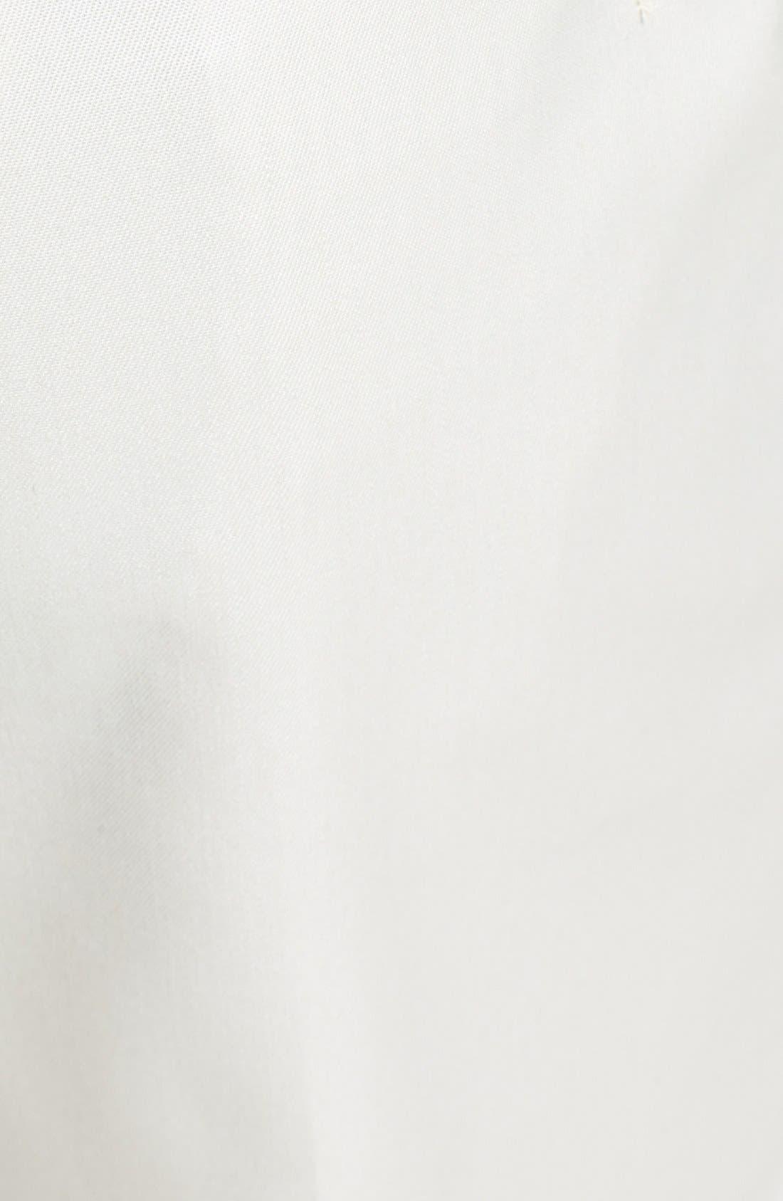 BERLE, Flat Front Wool Gabardine Trousers, Alternate thumbnail 6, color, STONE
