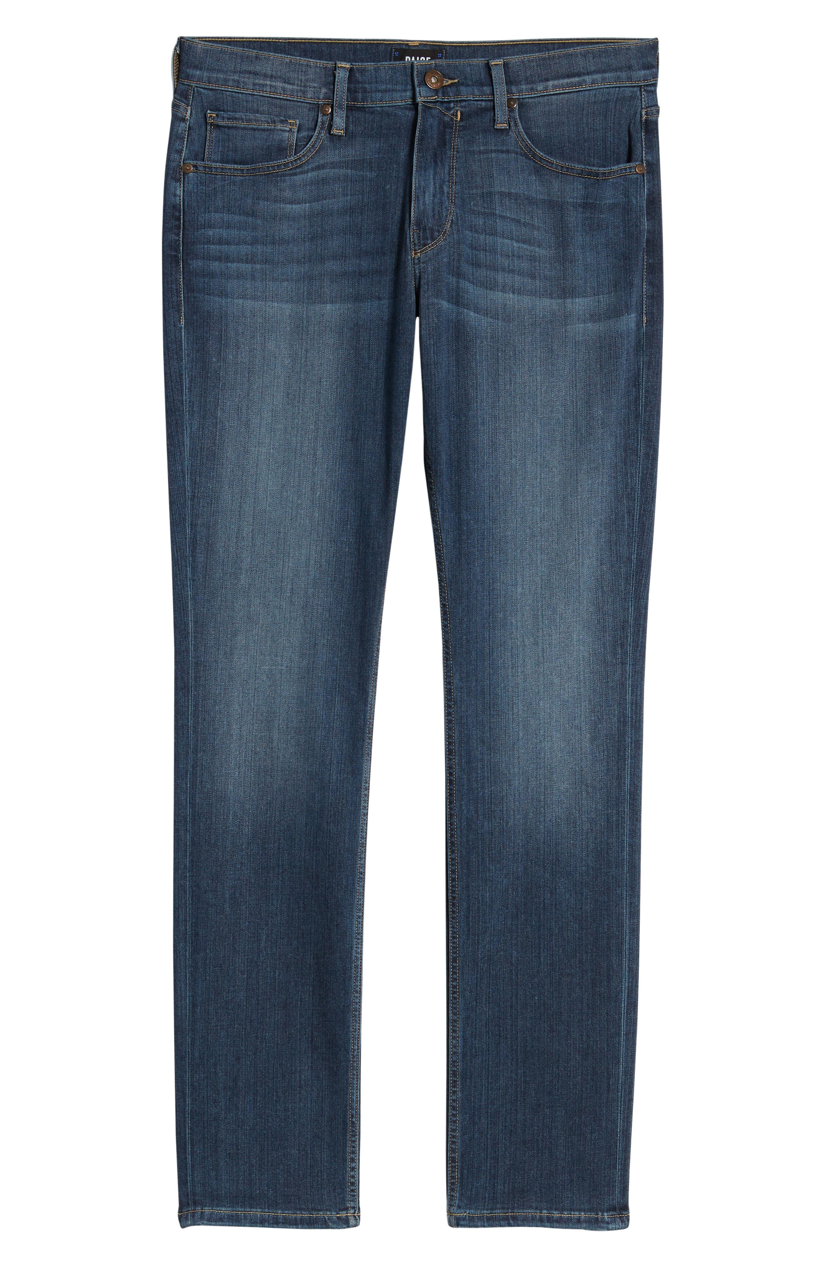 PAIGE, Transcend - Federal Slim Straight Leg Jeans, Alternate thumbnail 8, color, BIRCH