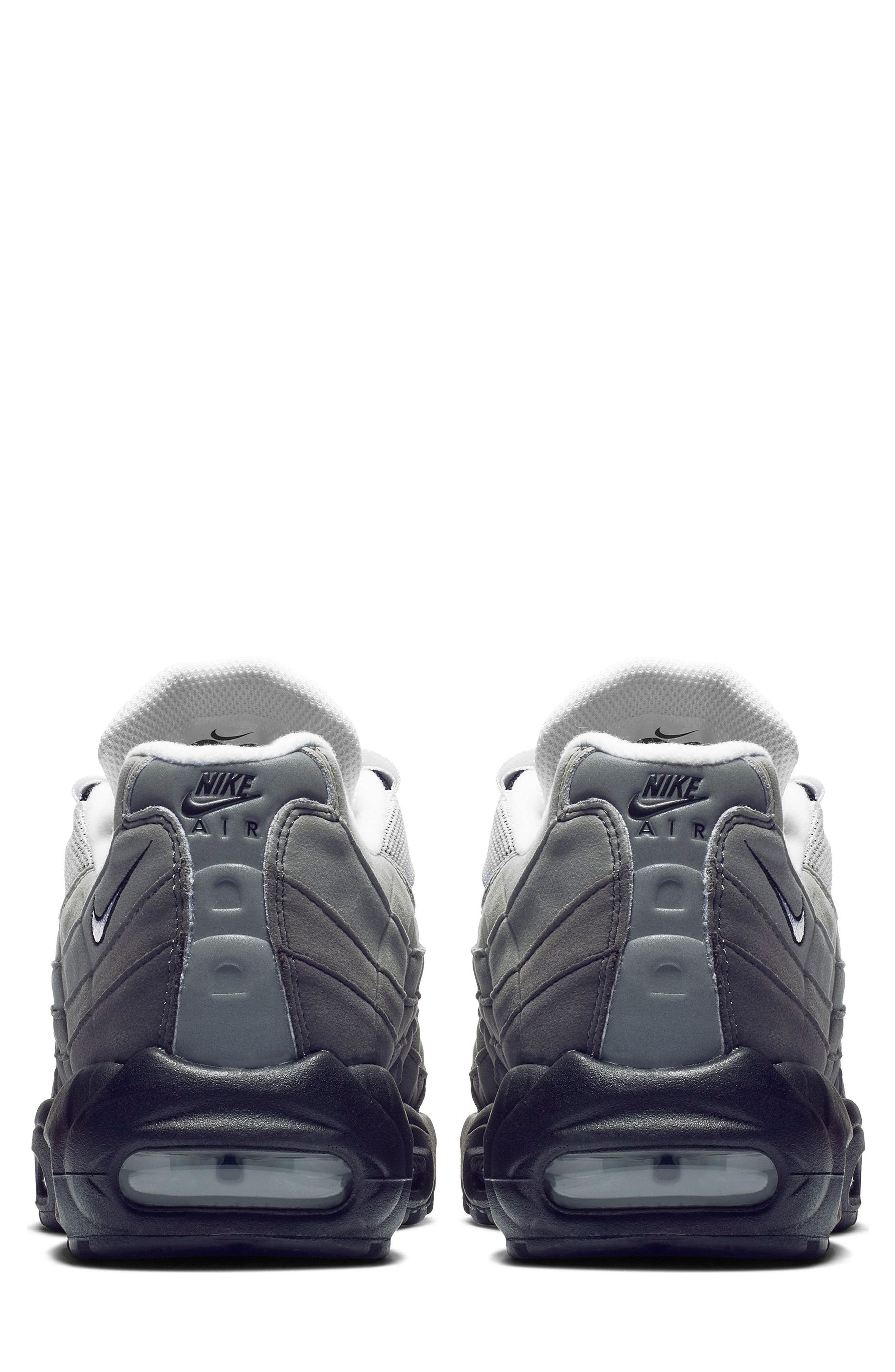 NIKE, Air Max 95 OG Sneaker, Alternate thumbnail 2, color, BLACK/ WHITE/ GRANITE/ DUST