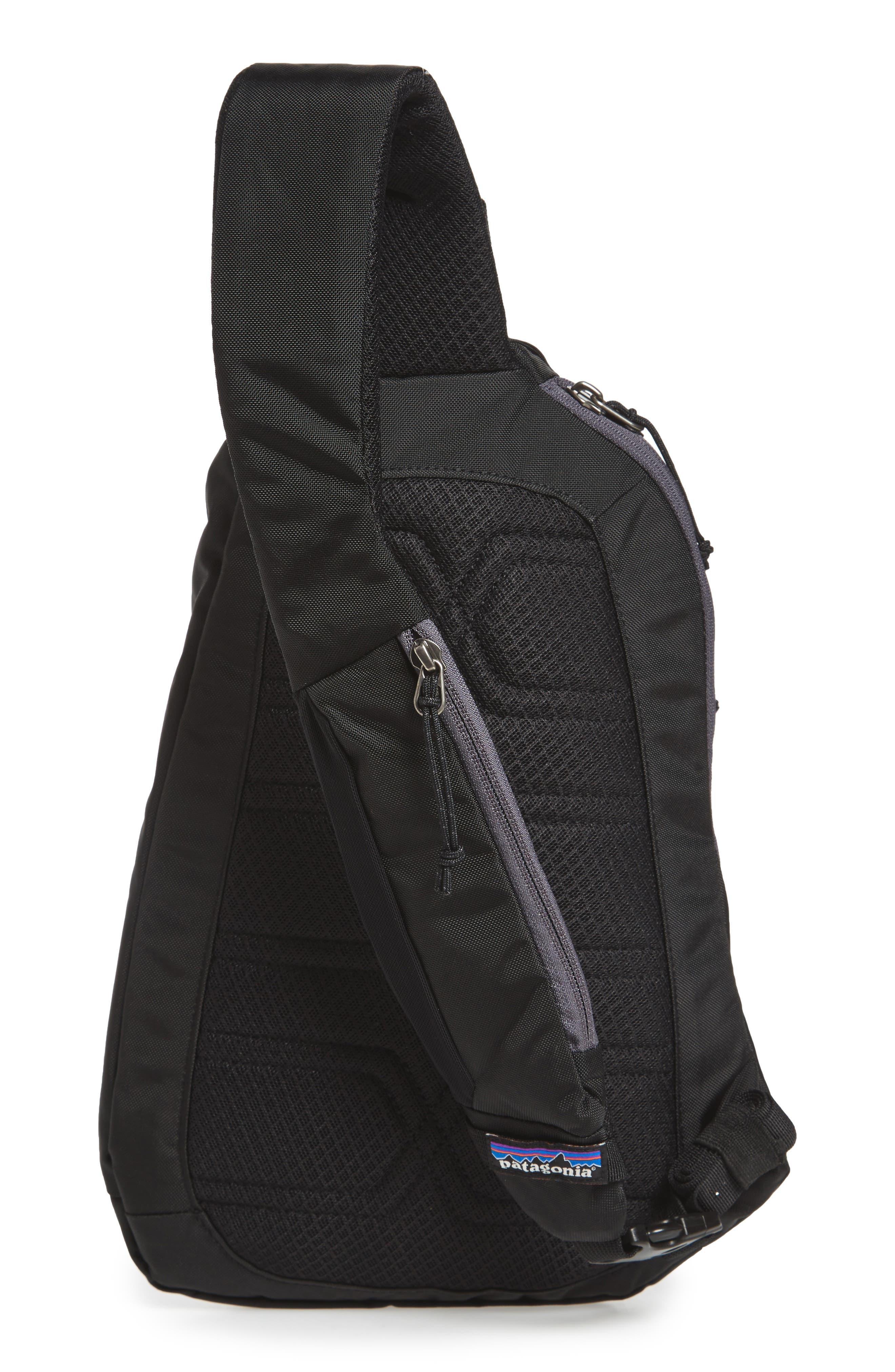 PATAGONIA, Atom 8L Sling Backpack, Alternate thumbnail 4, color, BLACK
