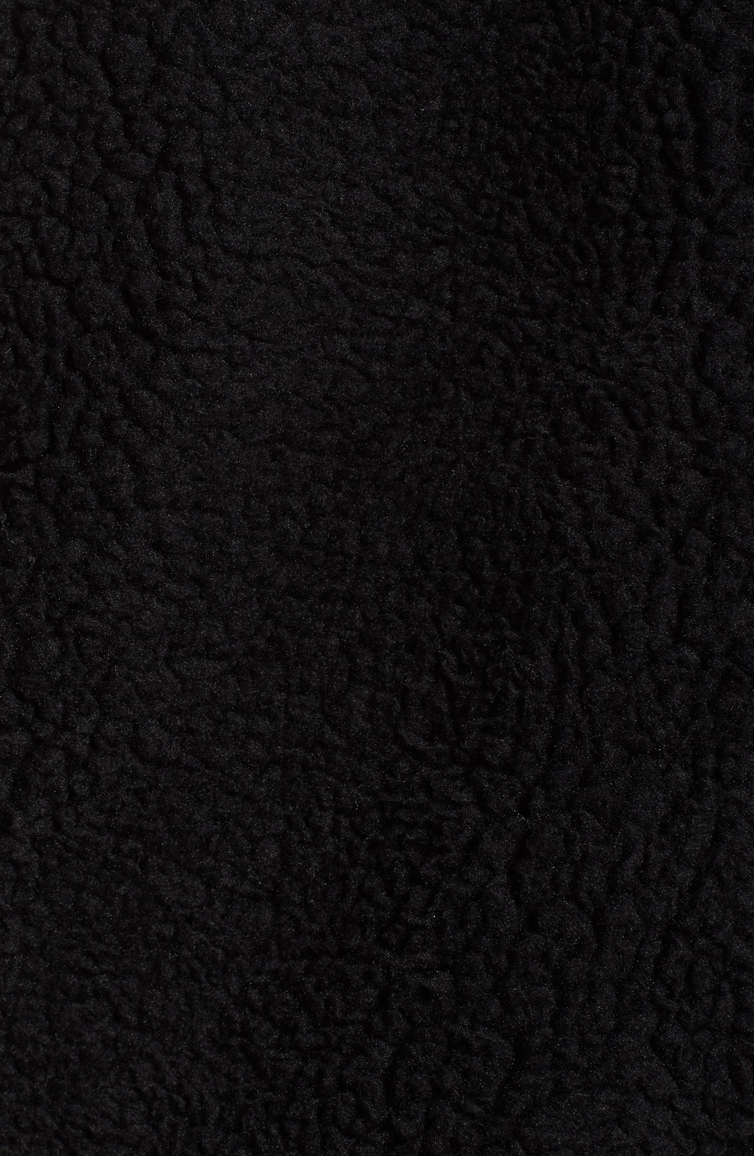 ALO, Norte Faux Fur Coat, Alternate thumbnail 6, color, BLACK