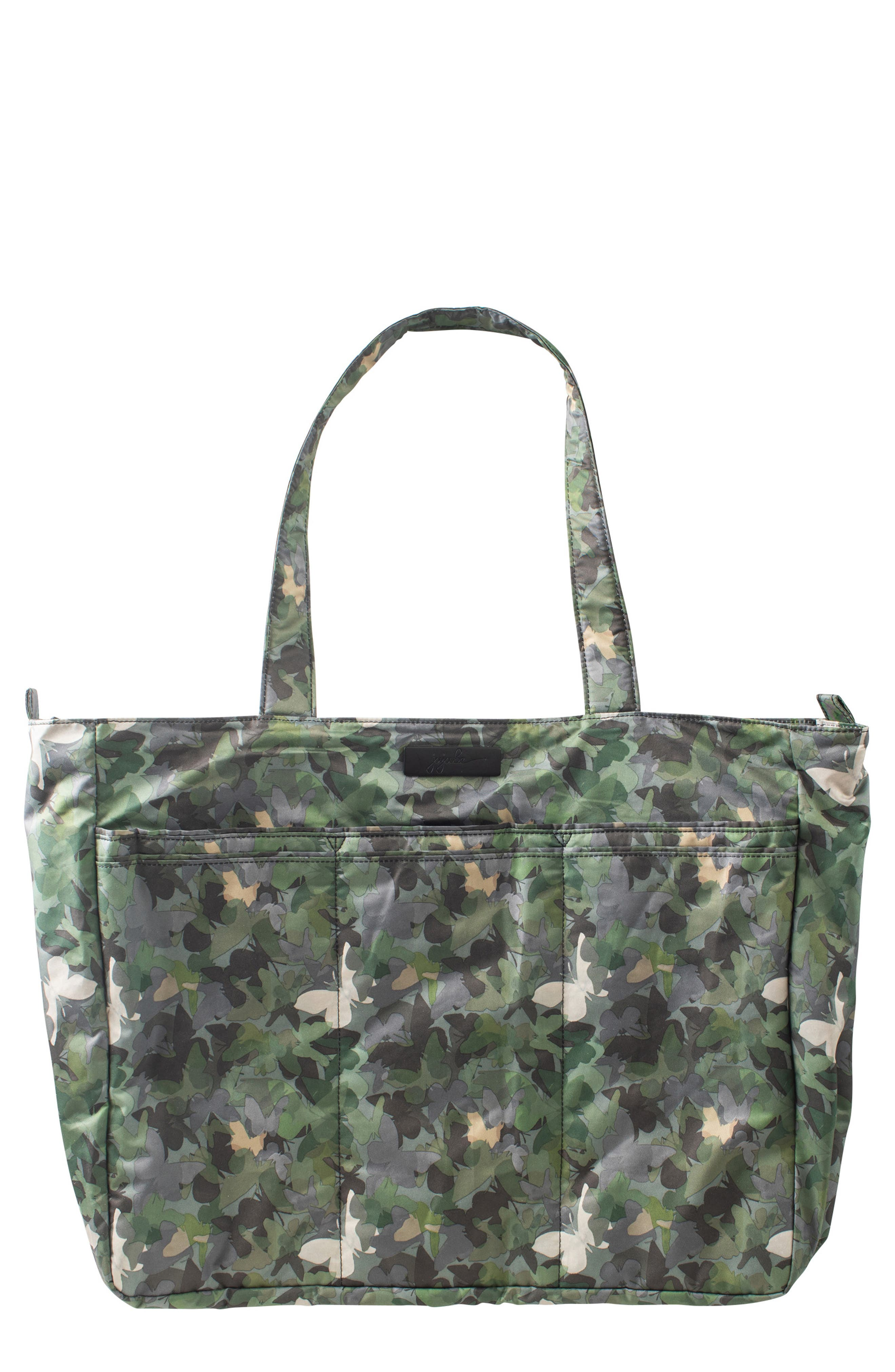 JU-JU-BE, 'Super Be - Onyx Collection' Diaper Bag, Main thumbnail 1, color, BUTTERFLY FOREST