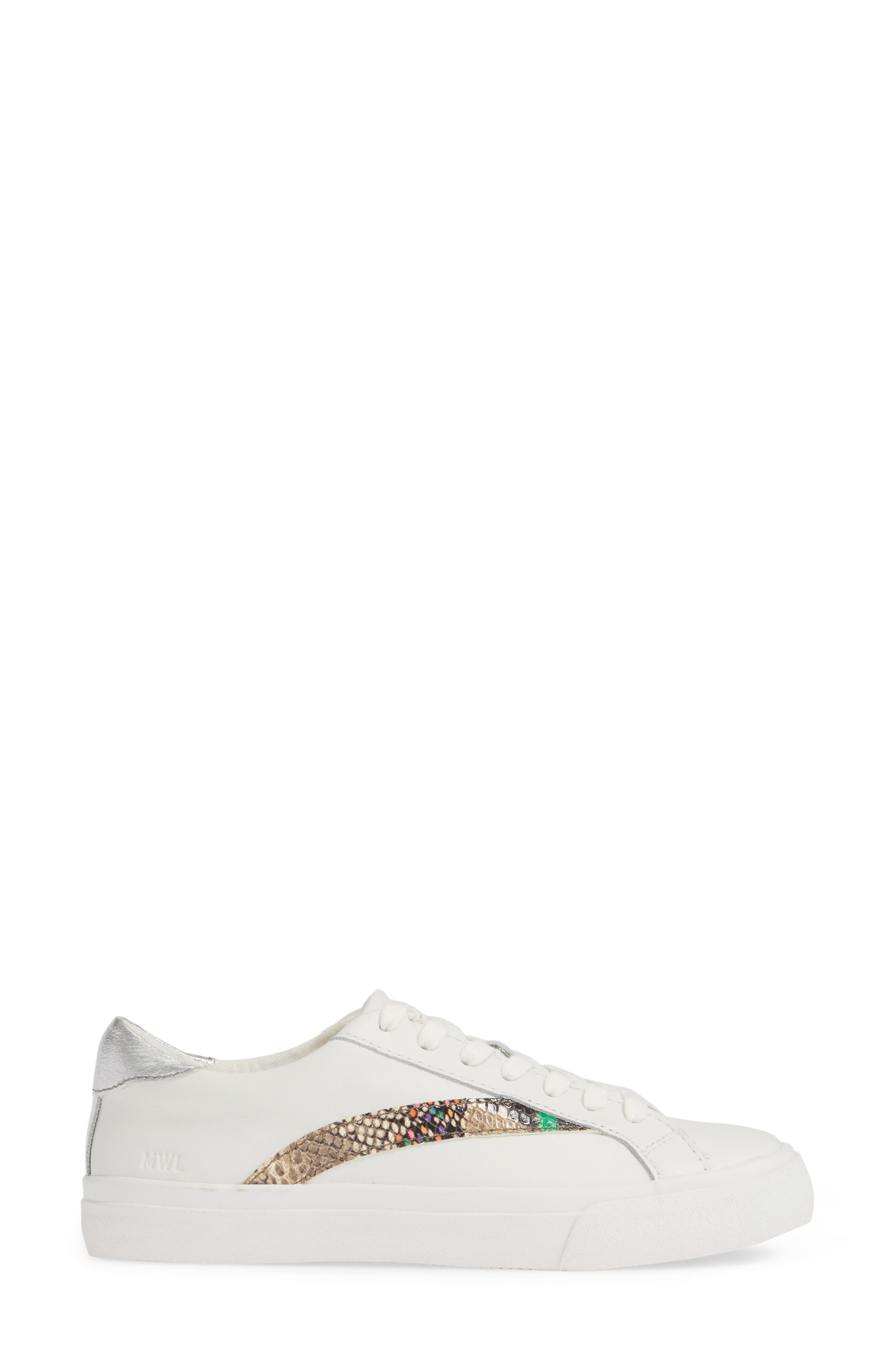 MADEWELL, Delia Sneaker, Alternate thumbnail 4, color, LIGHT UMBER MULTI