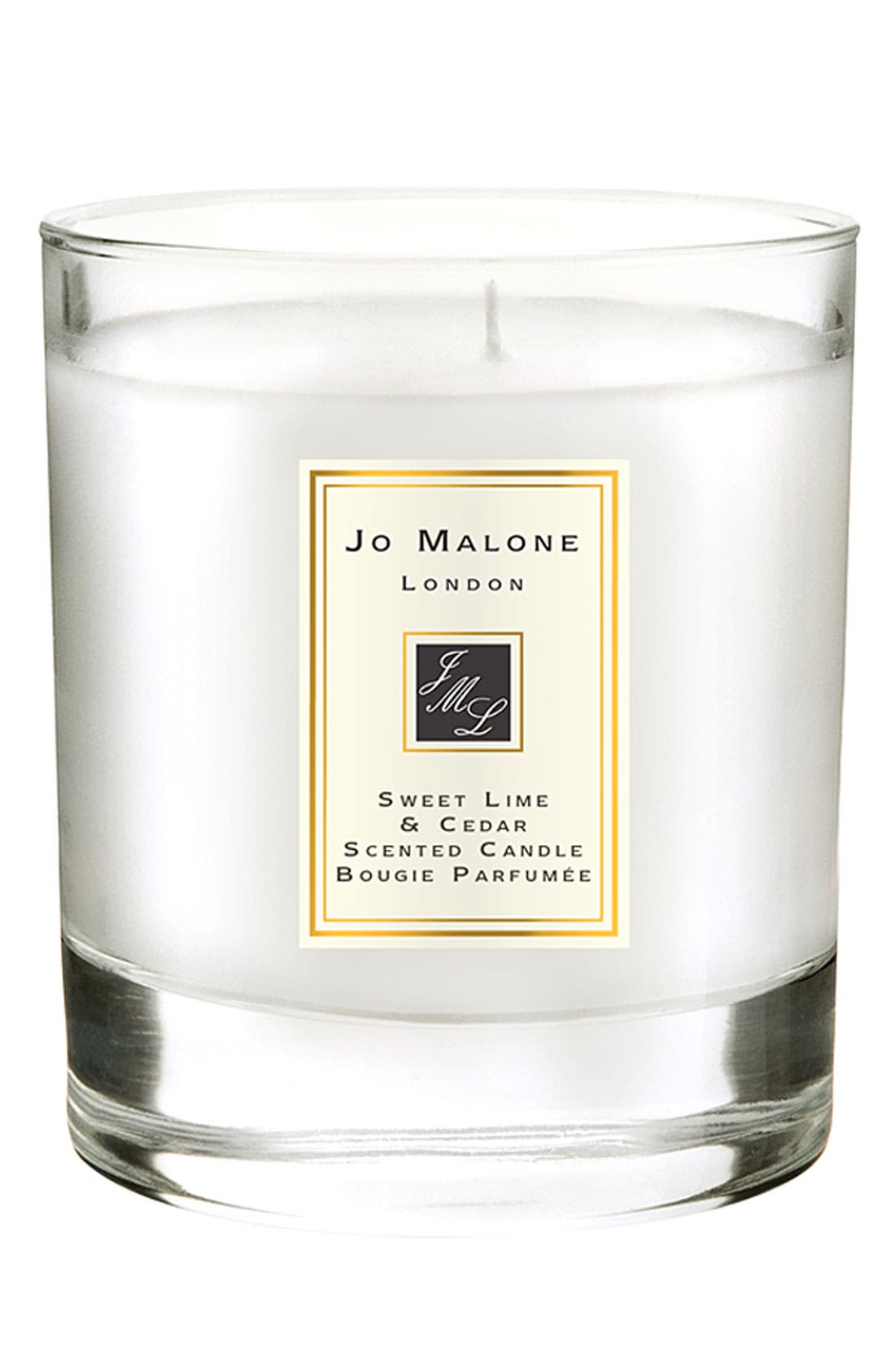 JO MALONE LONDON<SUP>™</SUP>, Jo Malone Sweet Lime & Cedar Scented Home Candle, Main thumbnail 1, color, 000