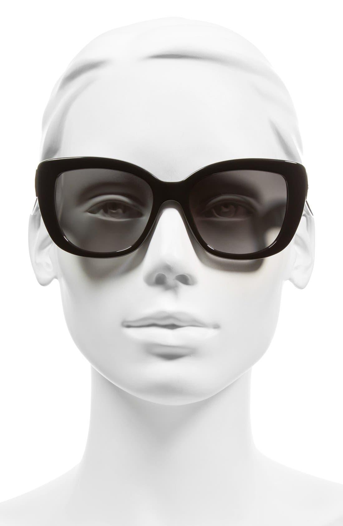 KATE SPADE NEW YORK, 'andris' 54mm sunglasses, Alternate thumbnail 4, color, 001