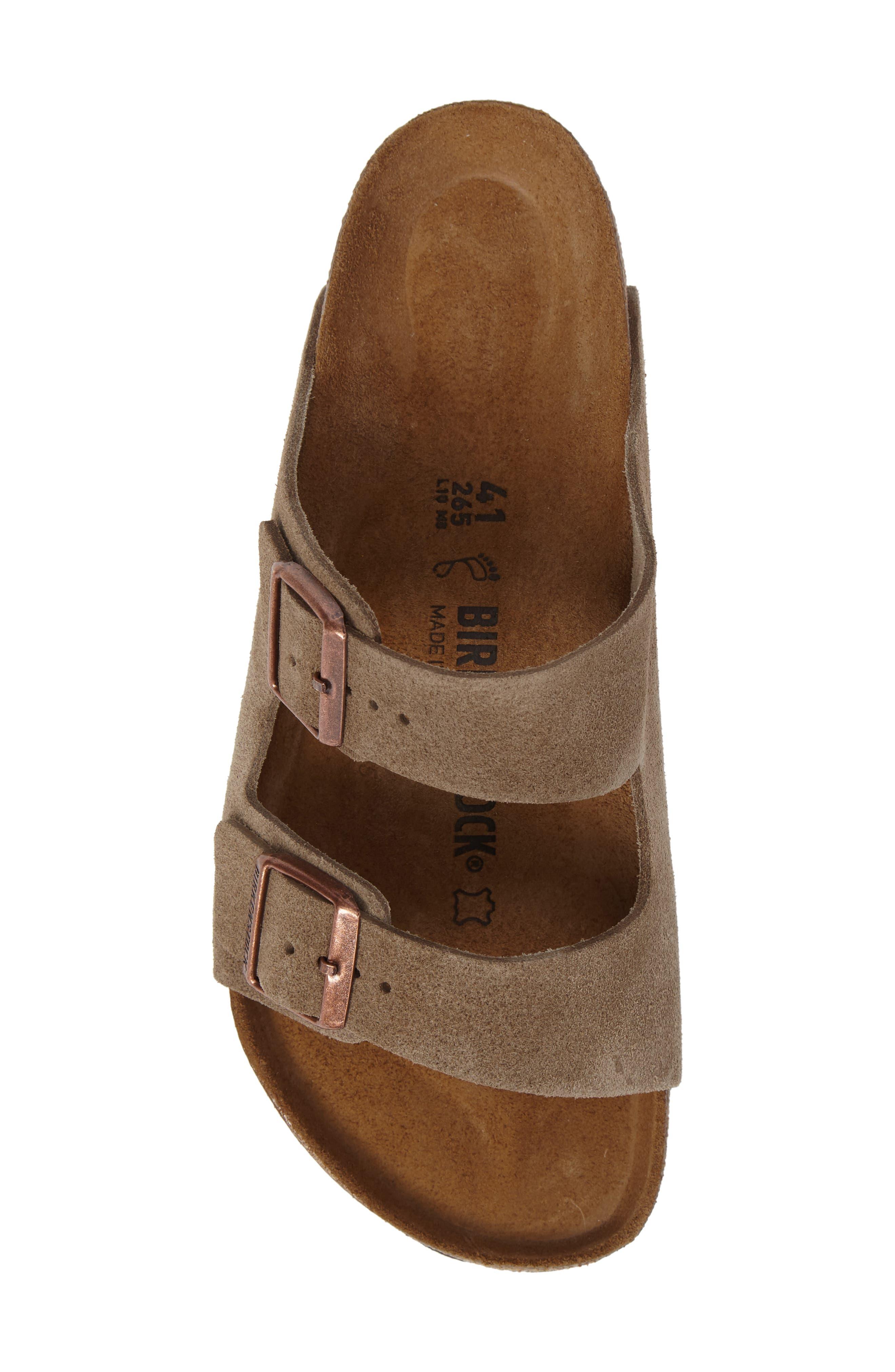 BIRKENSTOCK, 'Arizona' Sandal, Alternate thumbnail 6, color, TAUPE