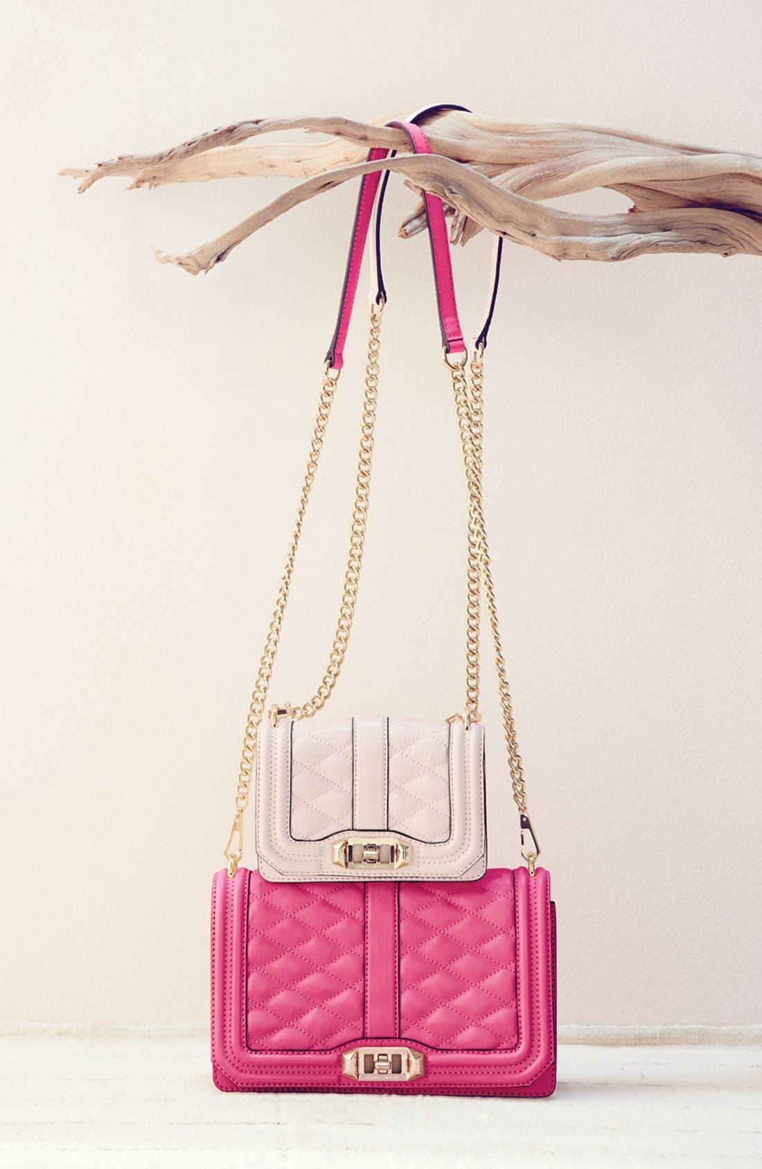 REBECCA MINKOFF Love Leather Crossbody Bag, Main, color, 003
