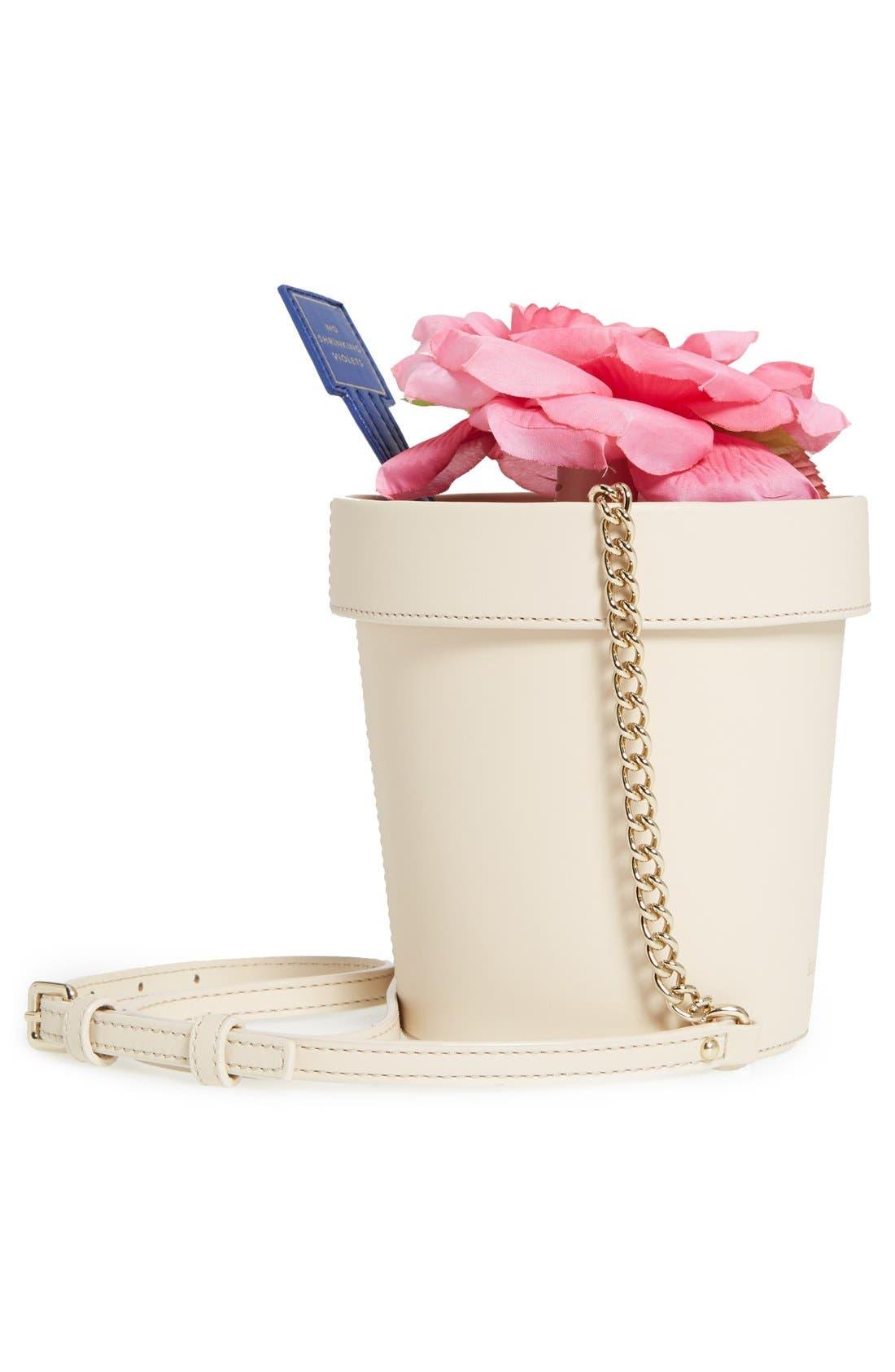 KATE SPADE NEW YORK, 'spring forward - flowerpot' crossbody bag, Alternate thumbnail 2, color, 100