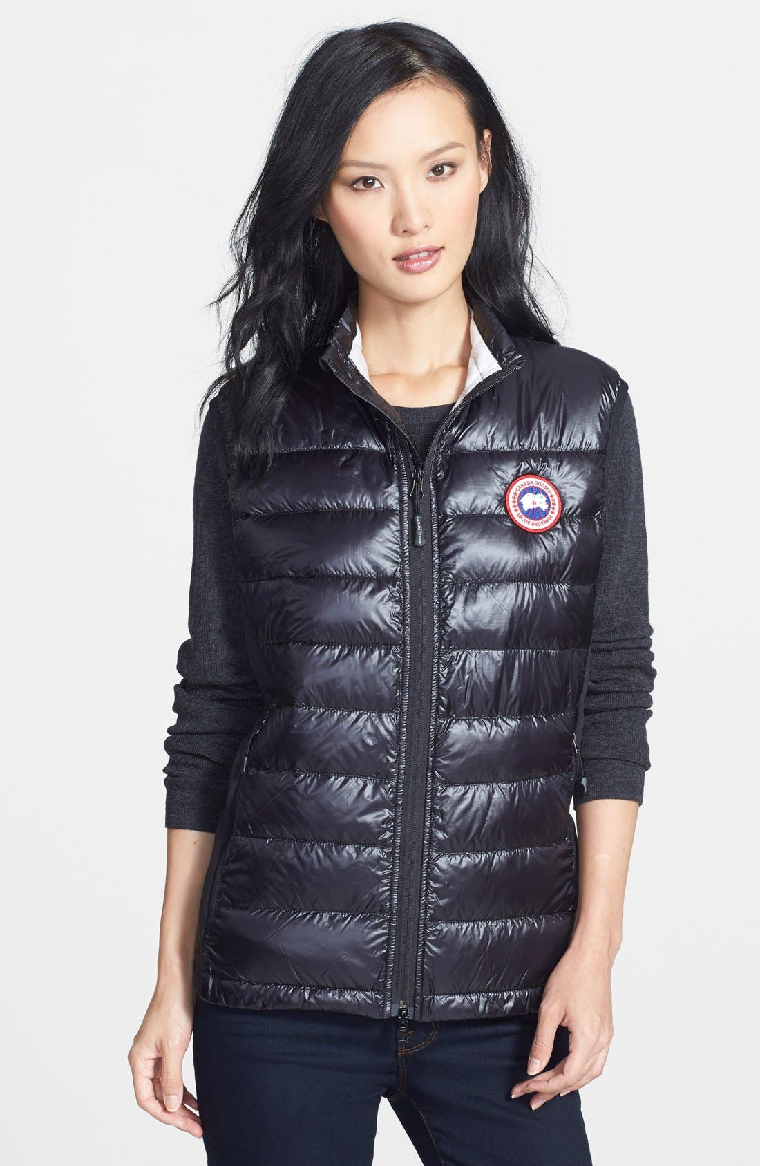 CANADA GOOSE 'Hybridge Lite' Slim Fit Packable Down Vest, Main, color, 001