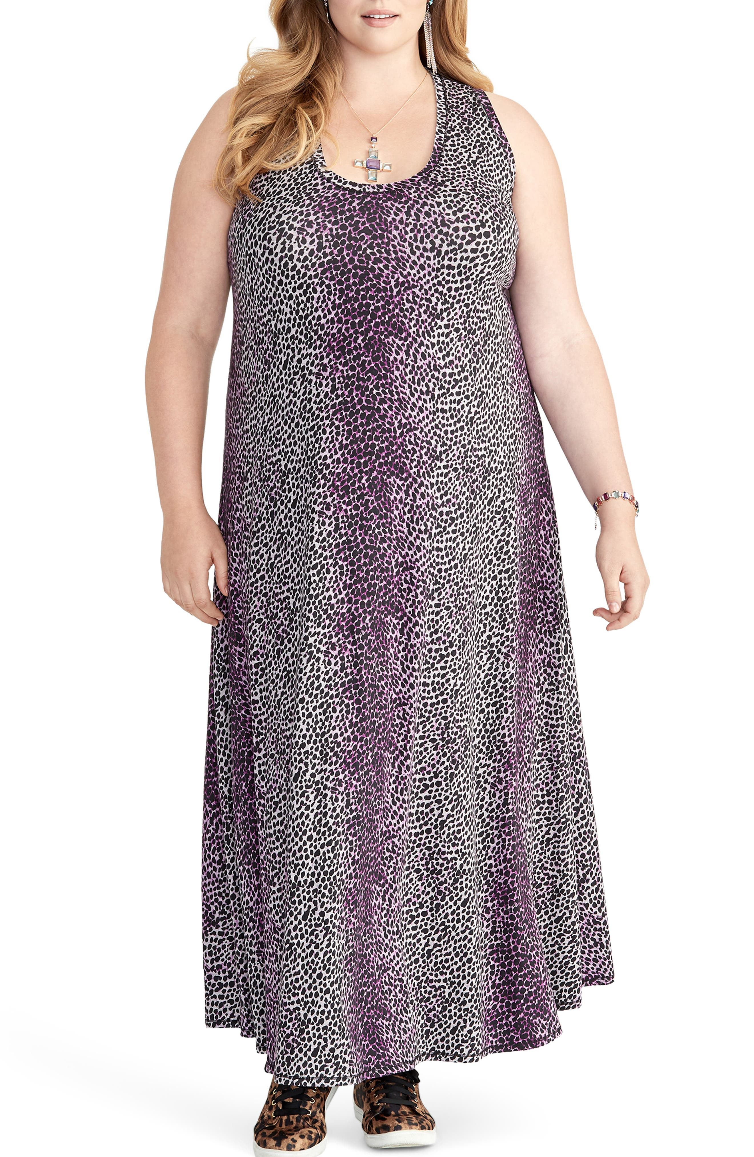 Plus Size Rachel Roy Samantha Leopard Print Maxi Dress, Purple