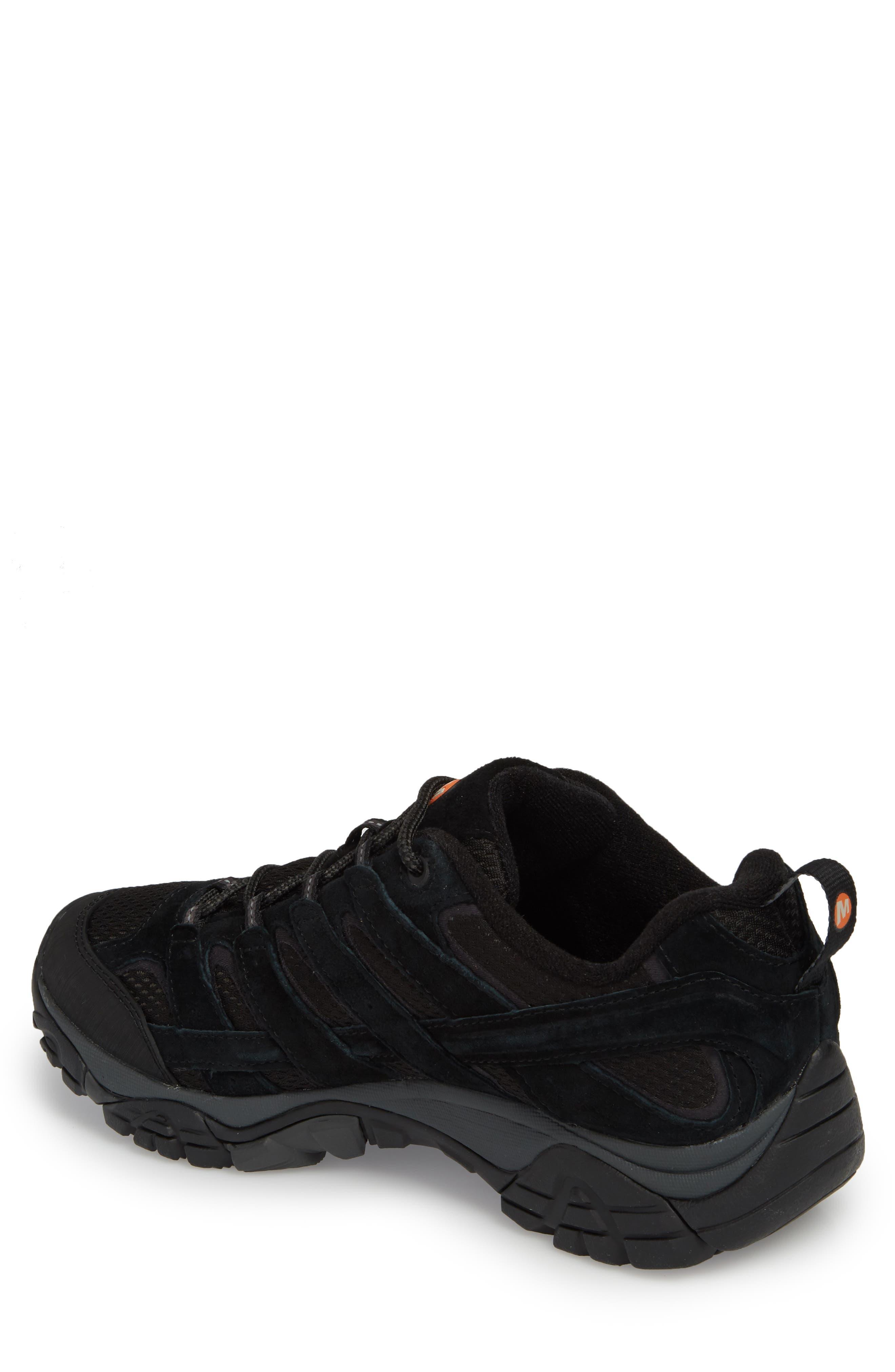MERRELL, Moab 2 Ventilator Hiking Shoe, Alternate thumbnail 2, color, BLACK NIGHT