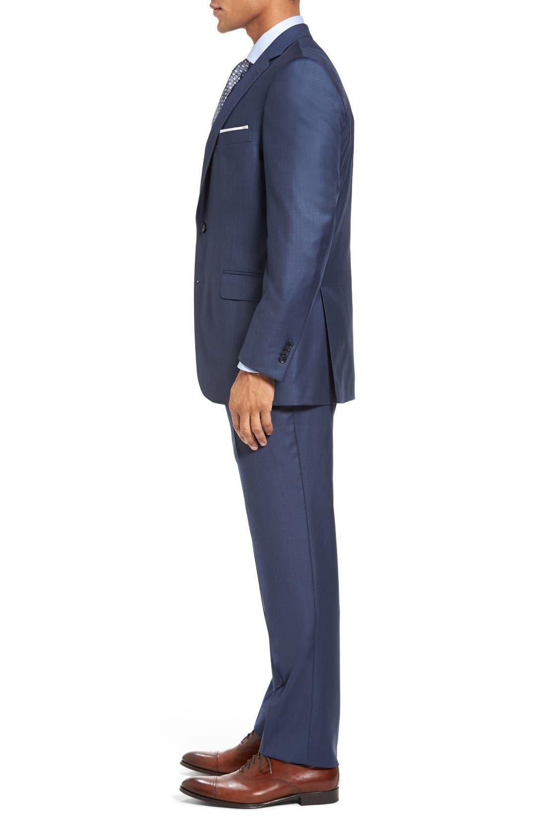 PETER MILLAR, Flynn Classic Fit Wool Suit, Alternate thumbnail 4, color, BLUE