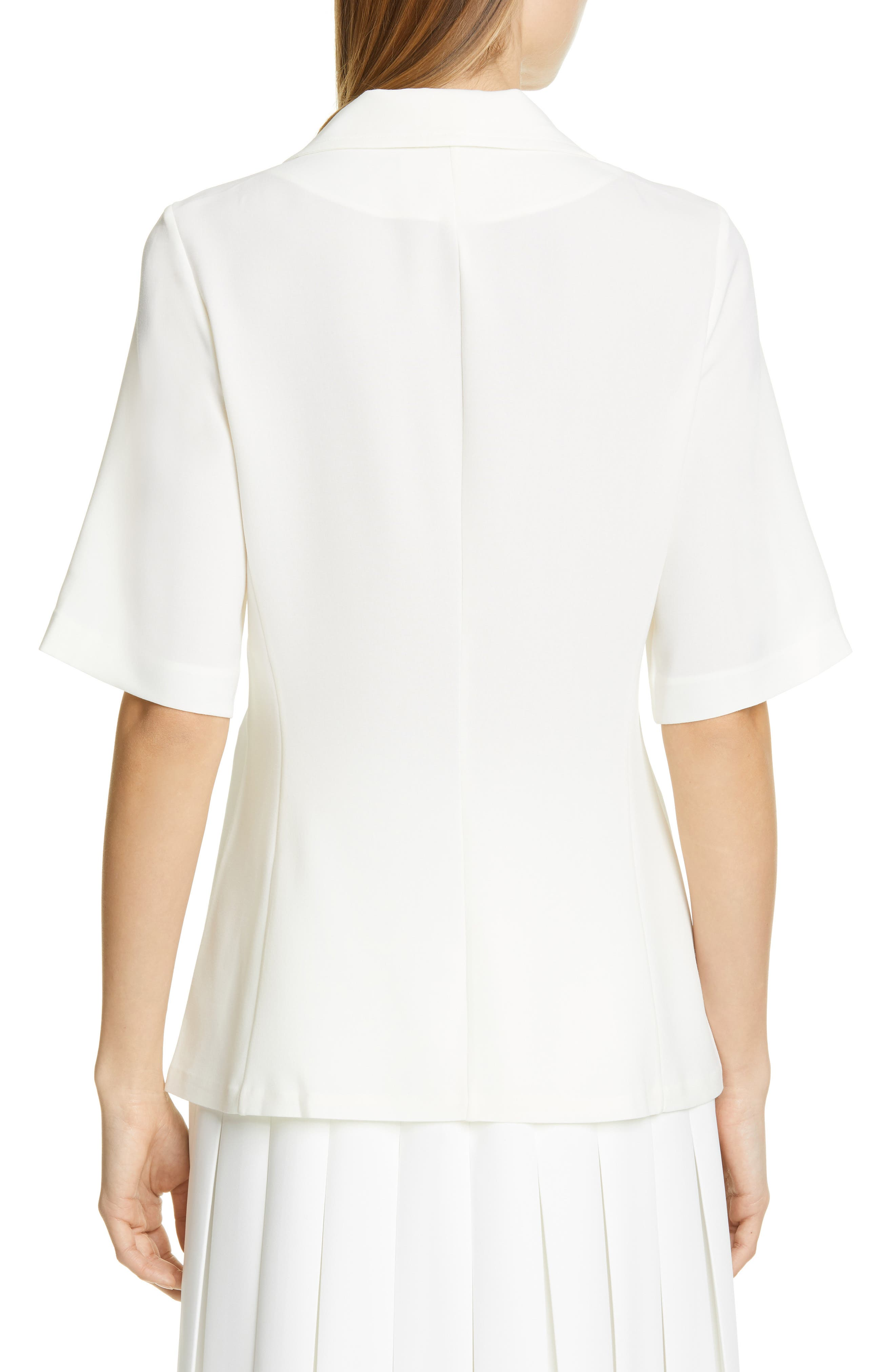 BEAUFILLE, Siner Blouse, Alternate thumbnail 2, color, WHITE