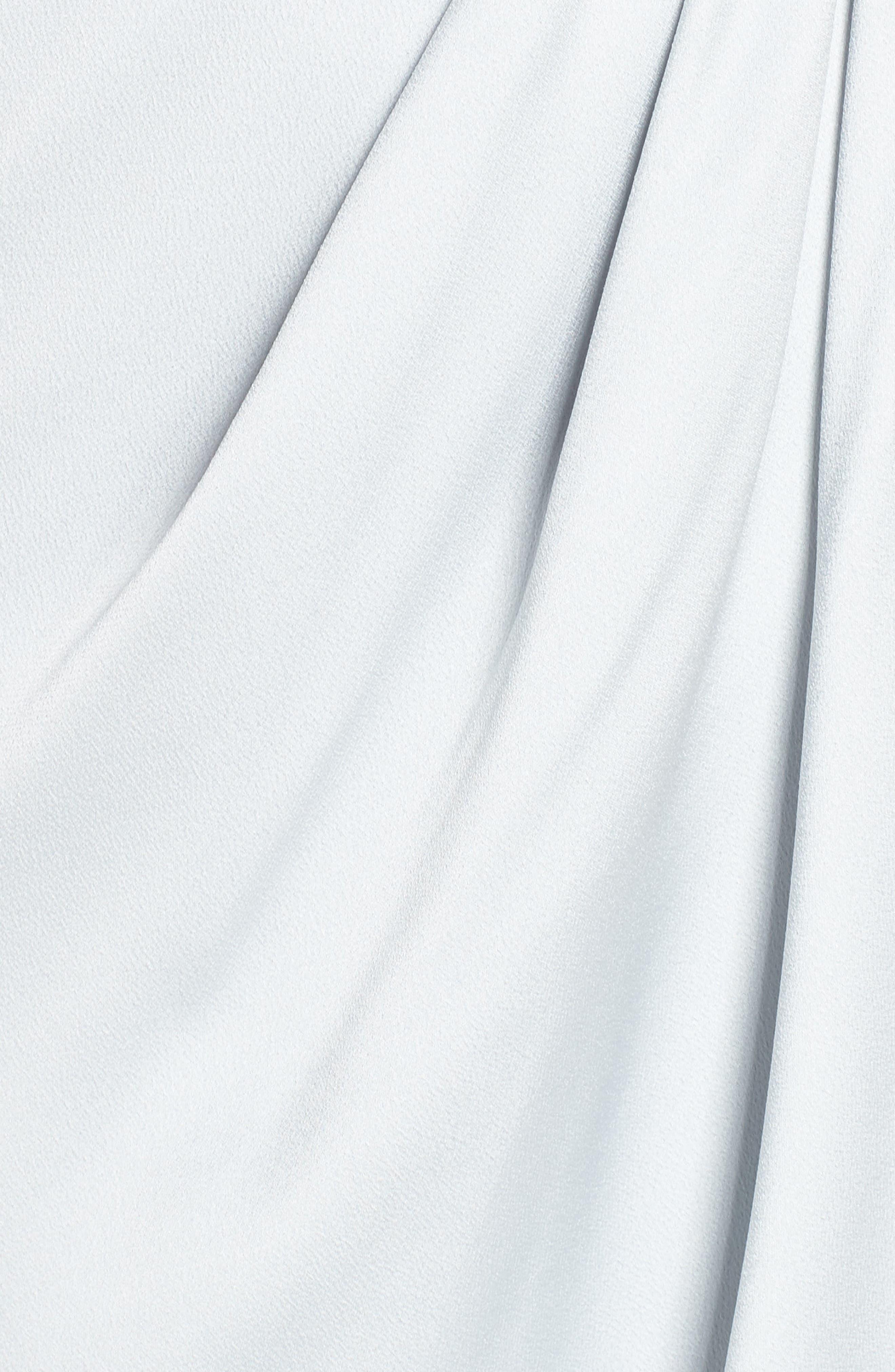 SHONA JOY, Luxe Frill Tulip Hem Maxi Dress, Alternate thumbnail 6, color, CLOUD