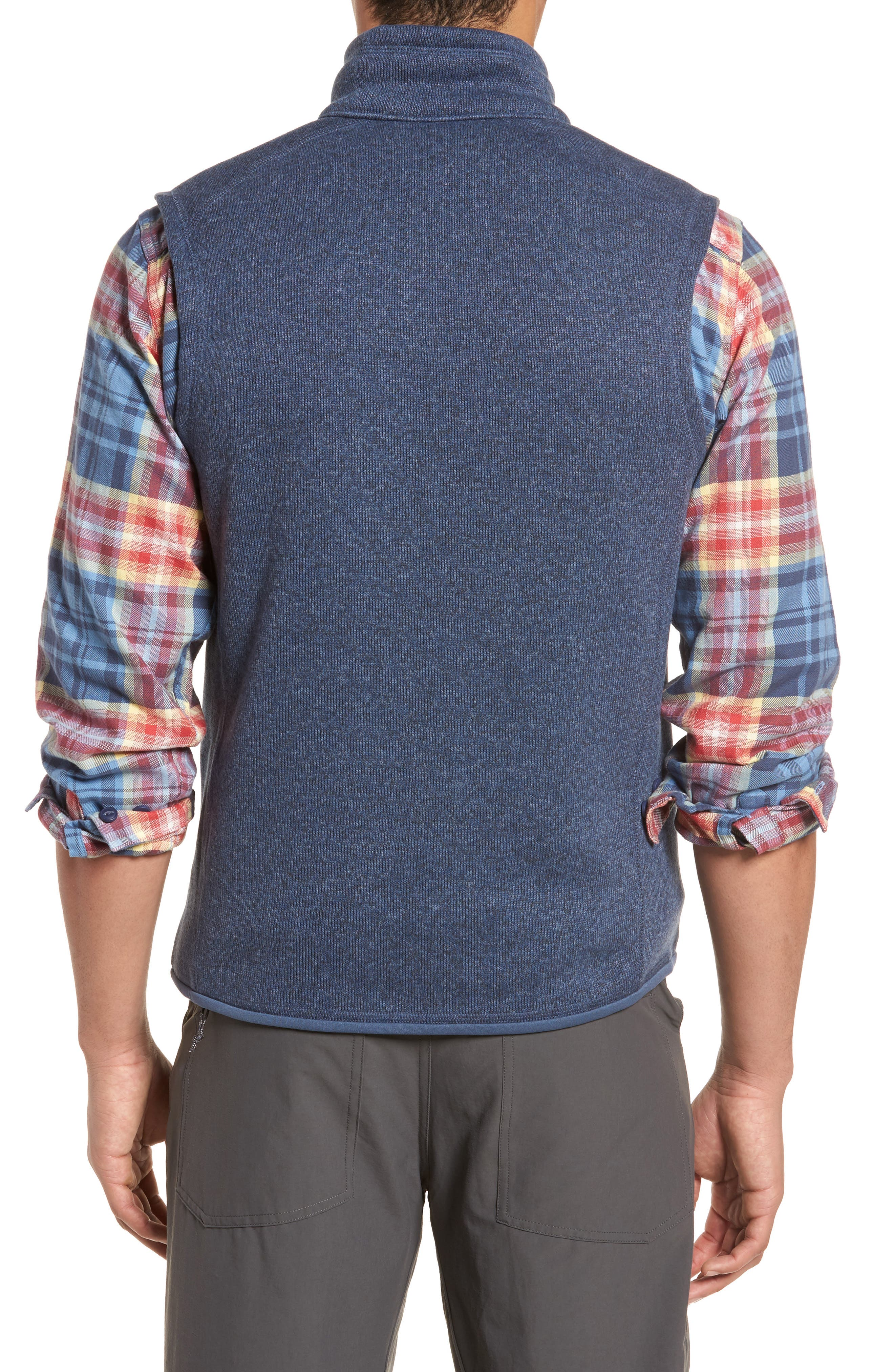 PATAGONIA, 'Better Sweater' Zip Front Vest, Alternate thumbnail 2, color, DOLOMITE BLUE