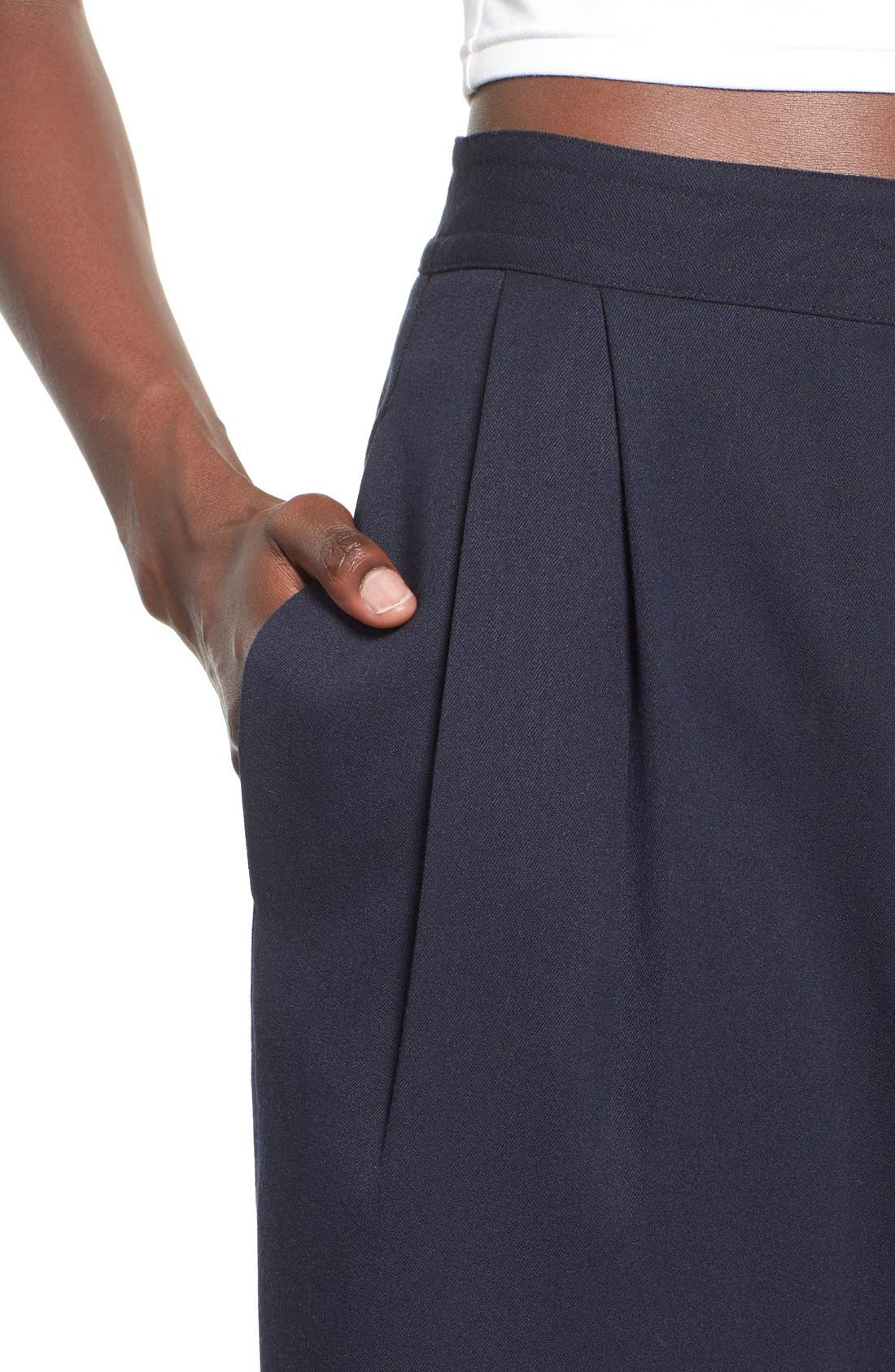 WAYF, Pleated Culottes, Alternate thumbnail 3, color, 410