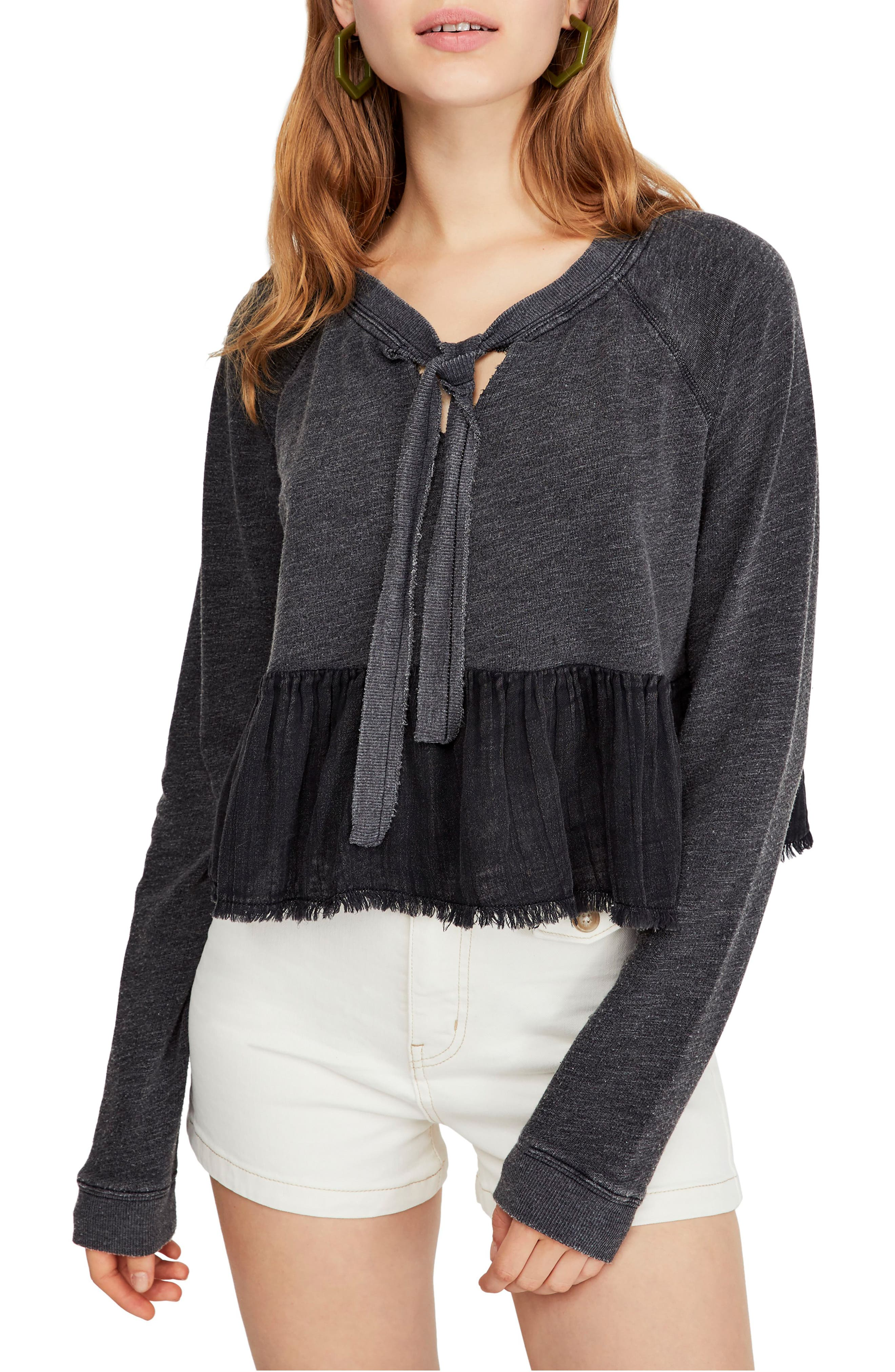 FREE PEOPLE Sweet Jane Pullover, Main, color, 001