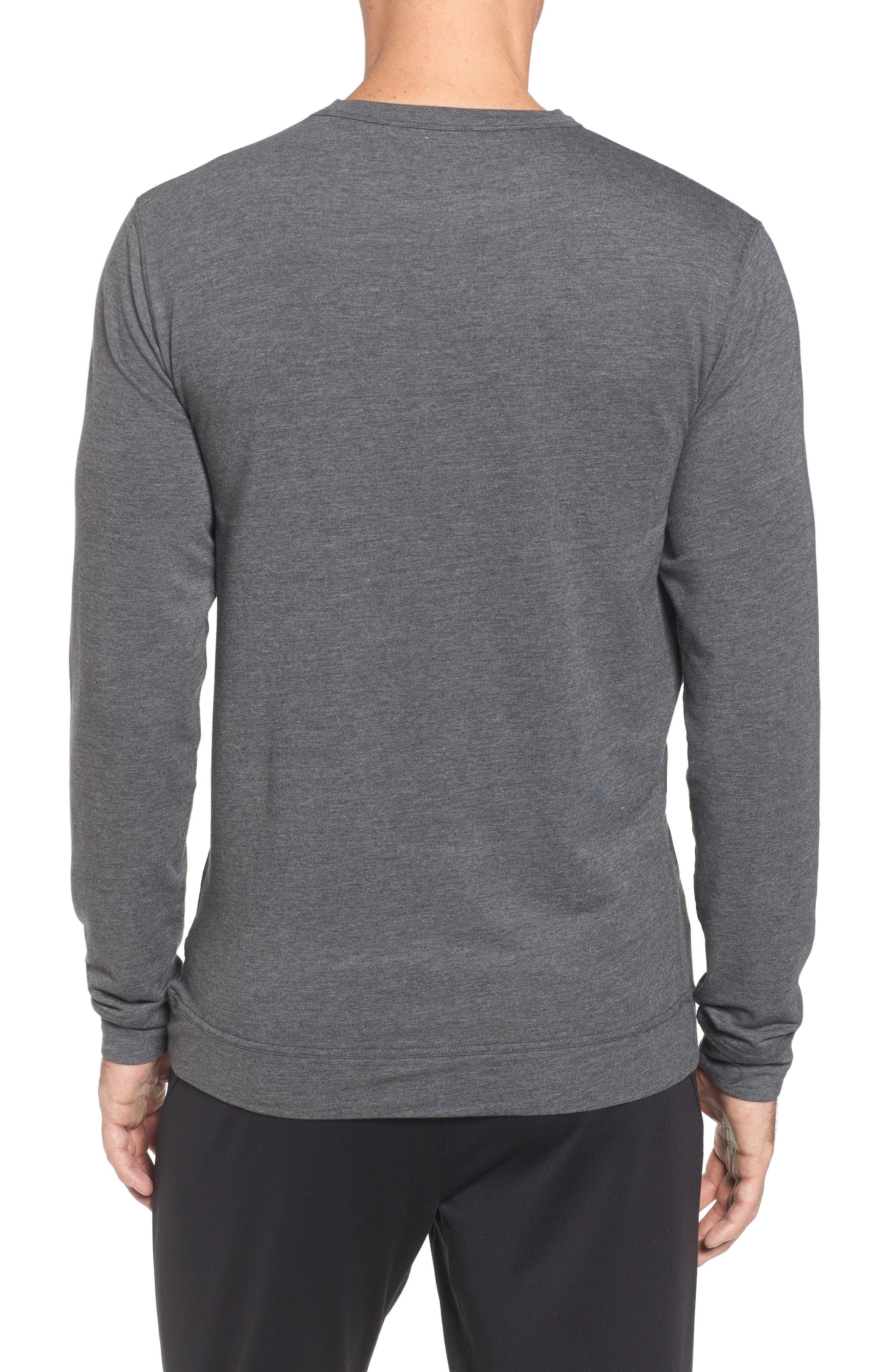 TASC PERFORMANCE, Legacy Crewneck Sweatshirt, Alternate thumbnail 2, color, BLACK HEATHER
