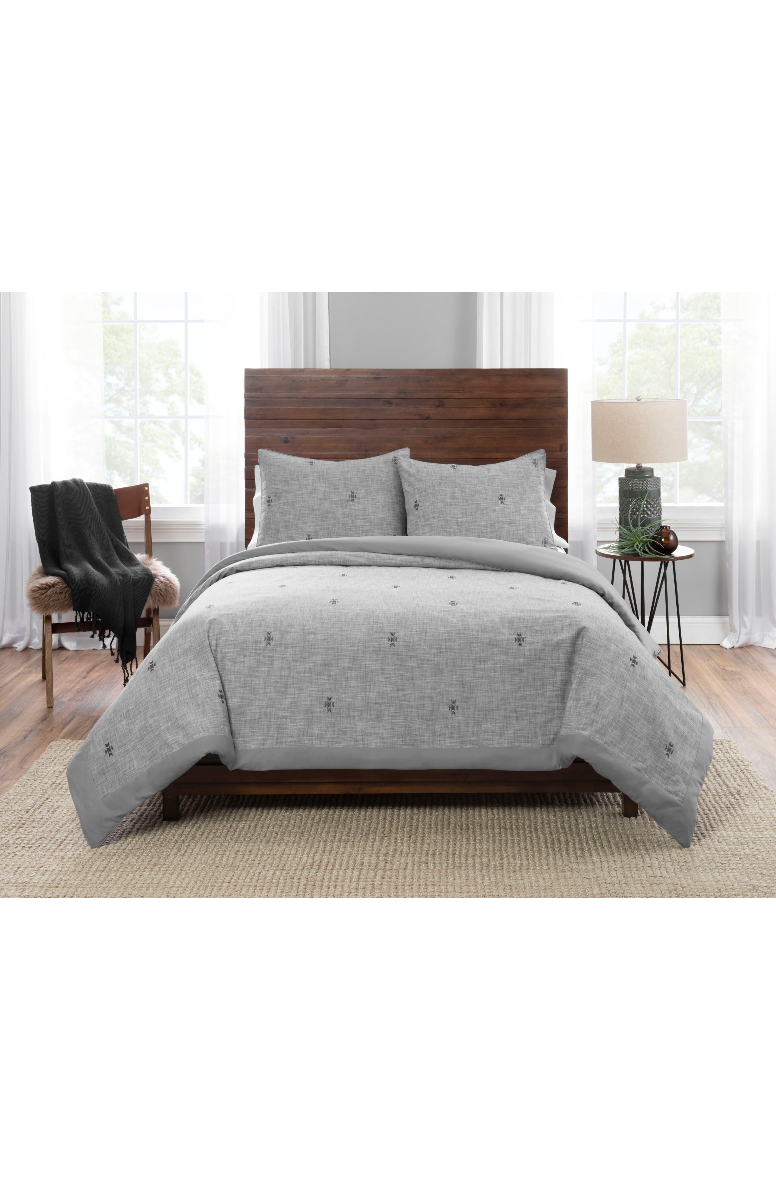 PENDLETON, Sedona Geo Comforter & Sham Set, Main thumbnail 1, color, GREY