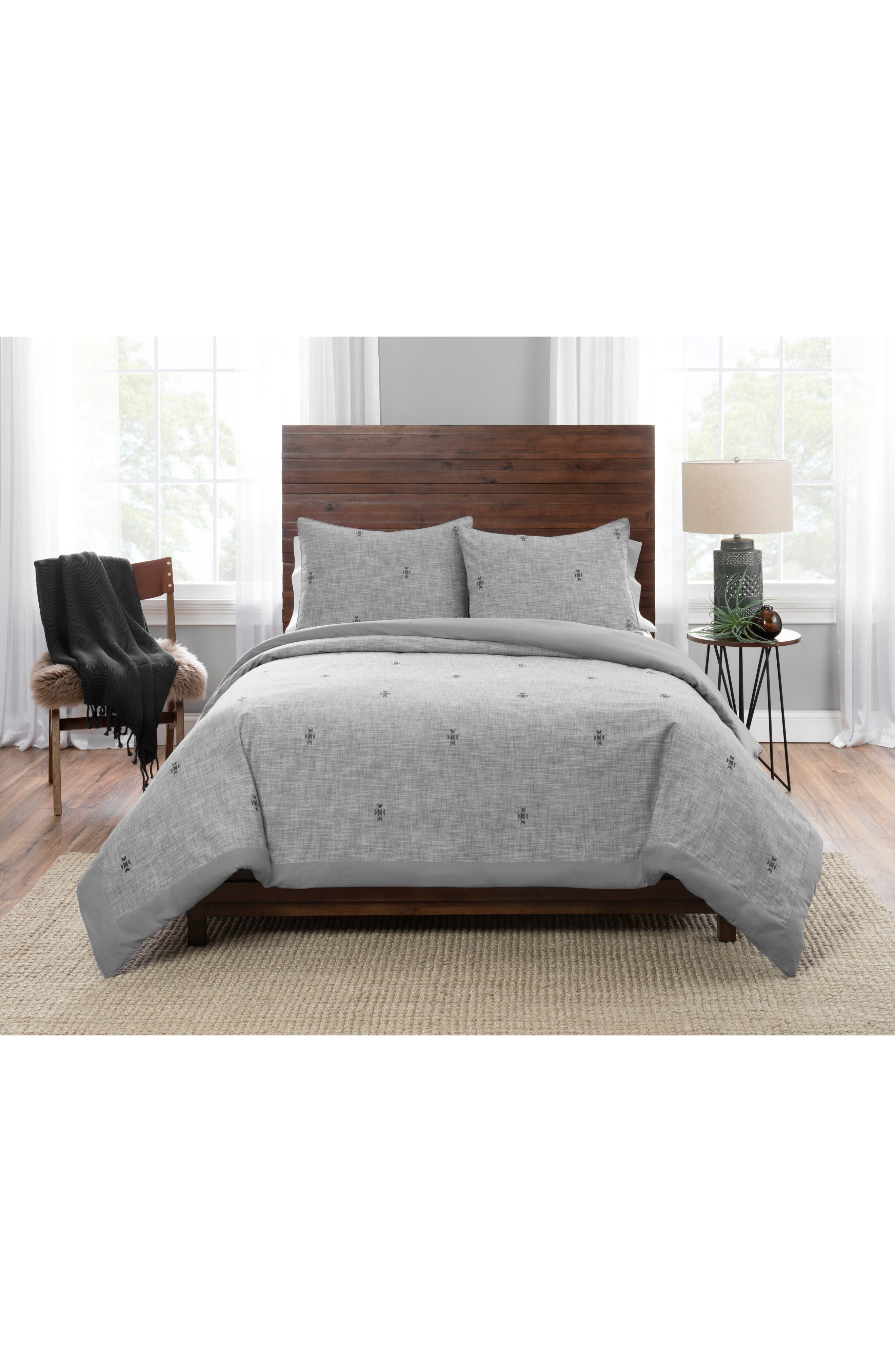 PENDLETON Sedona Geo Comforter & Sham Set, Main, color, GREY