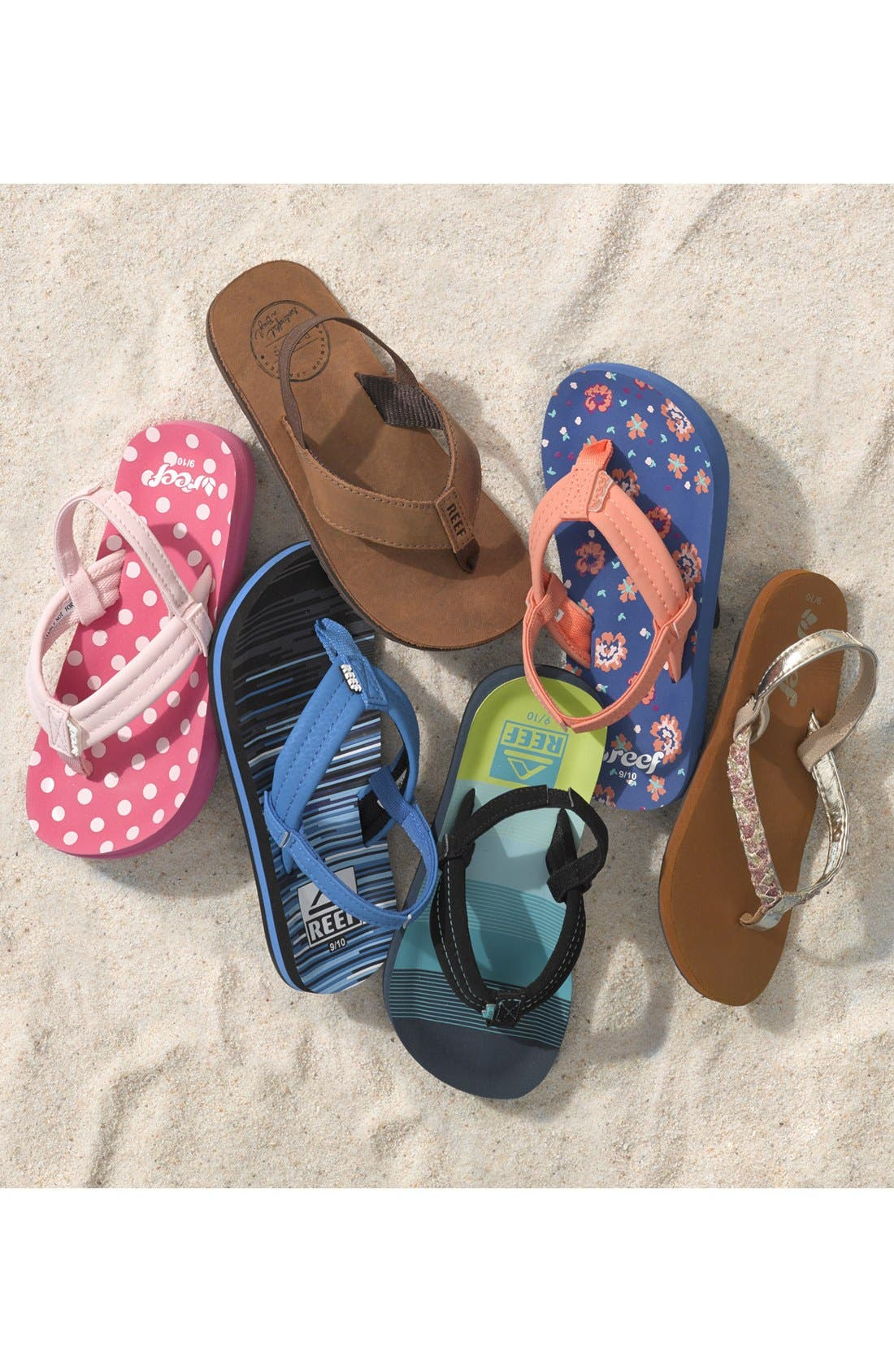 REEF, 'Little Ahi' Thong Sandal, Alternate thumbnail 7, color, ICE CREAM