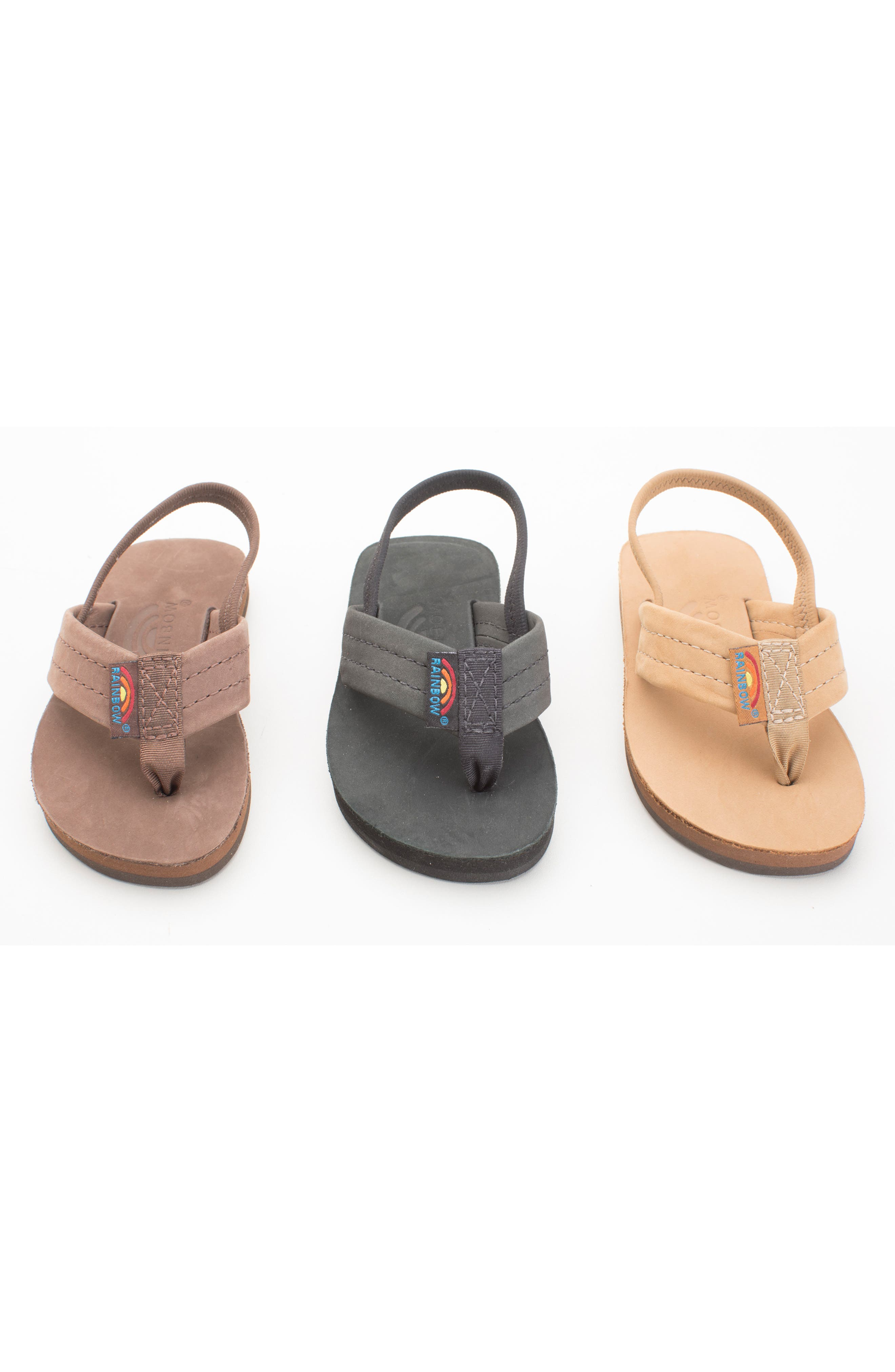RAINBOW<SUP>®</SUP>, Rainbow Leather Sandal, Alternate thumbnail 11, color, EXPRESSO