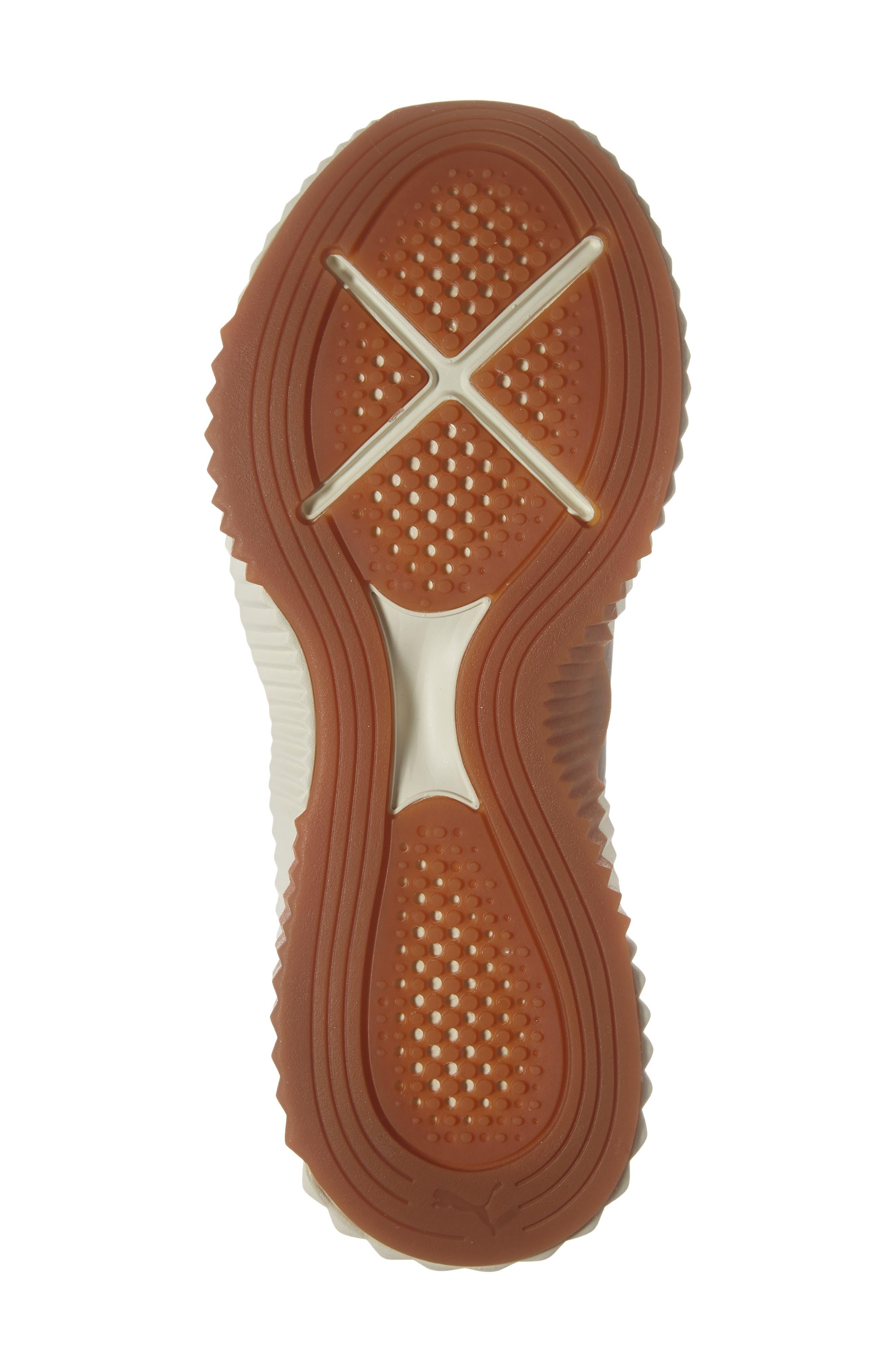 PUMA, Defy Luxe Sneaker, Alternate thumbnail 6, color, PEPPERCORN/ METALLIC ASH