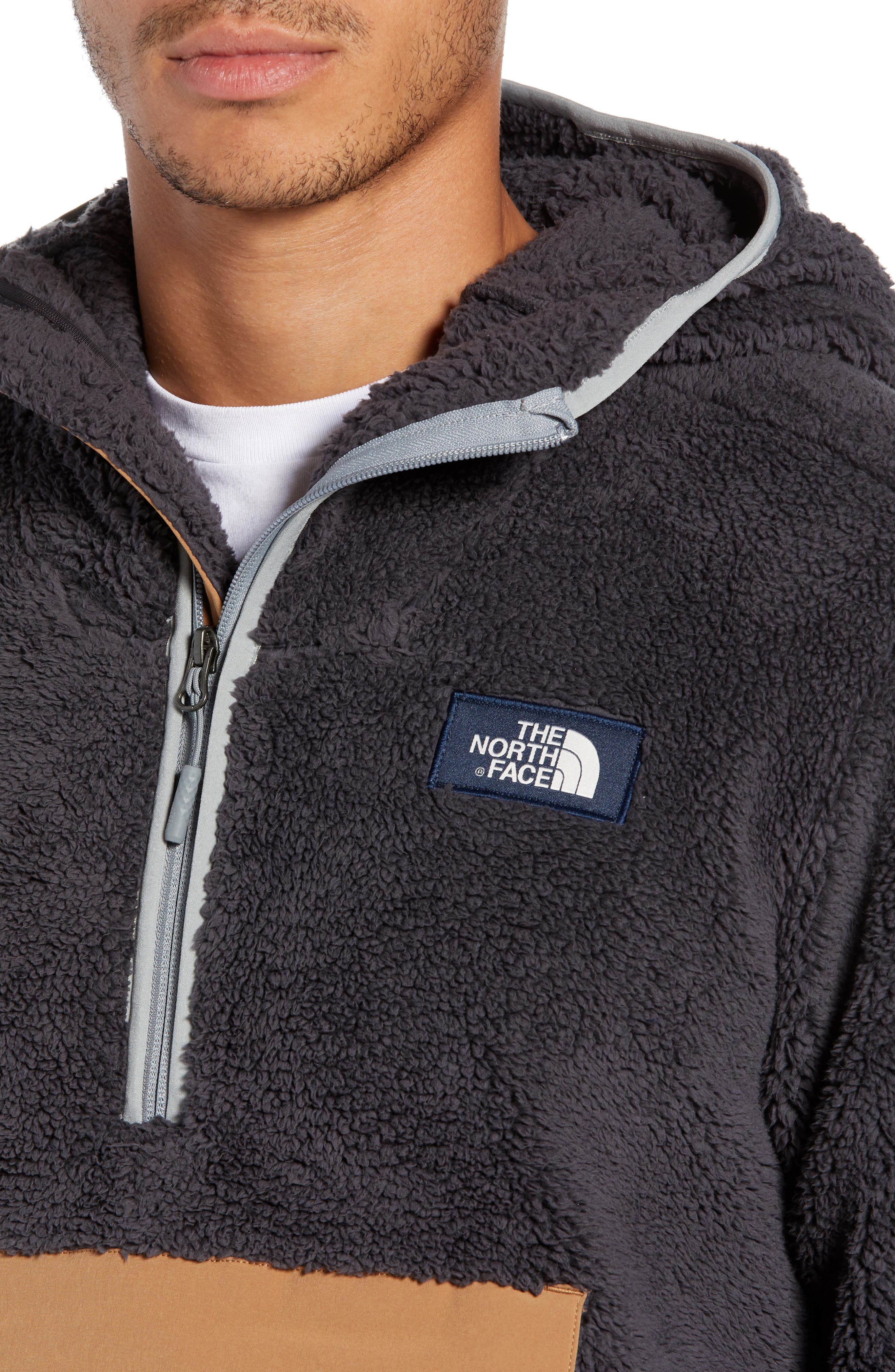 THE NORTH FACE, Campshire Anorak Fleece Jacket, Alternate thumbnail 5, color, 001