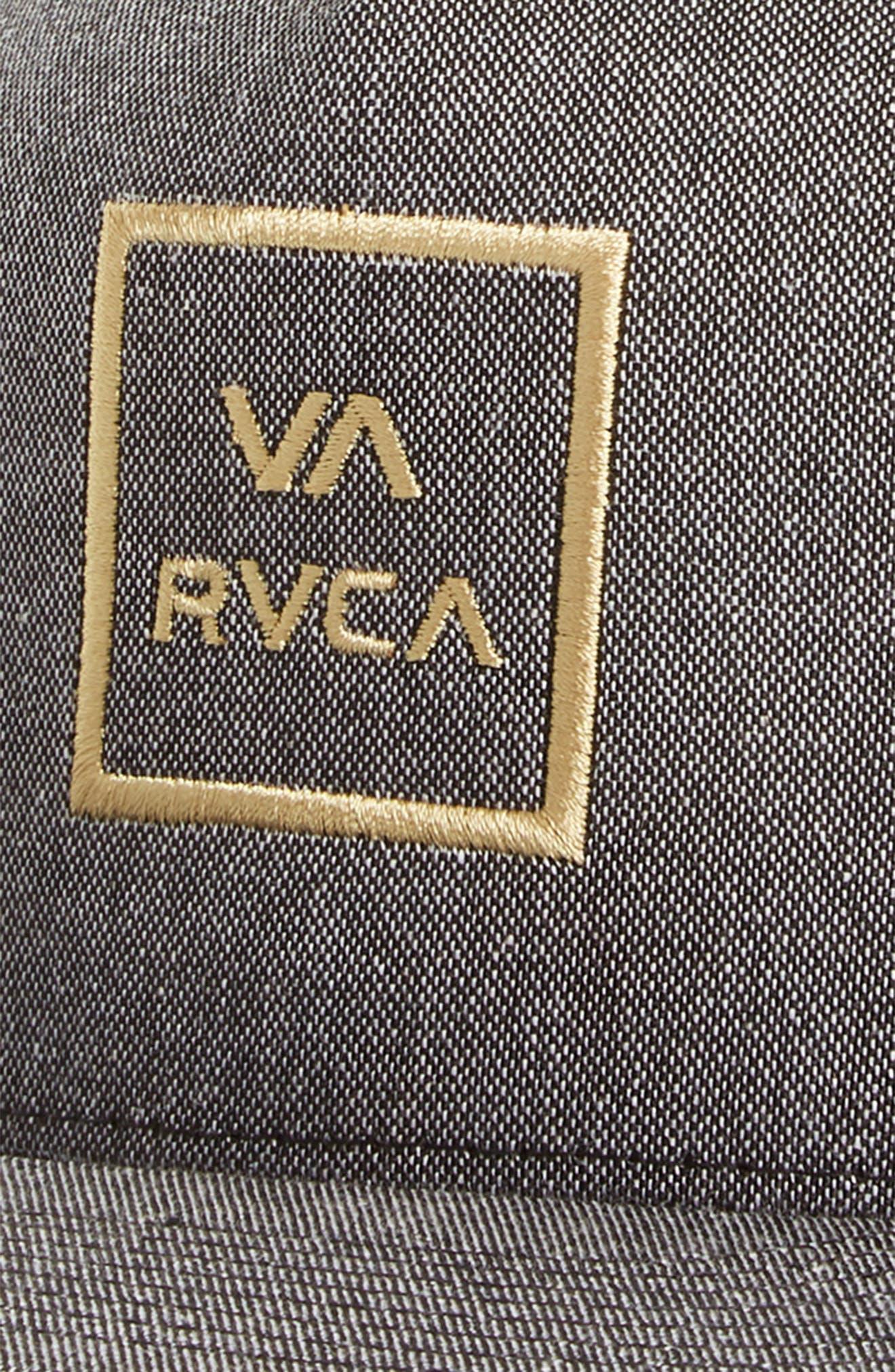 RVCA, VA All the Way Trucker Hat, Alternate thumbnail 3, color, DARK CHARCOAL HEATHER