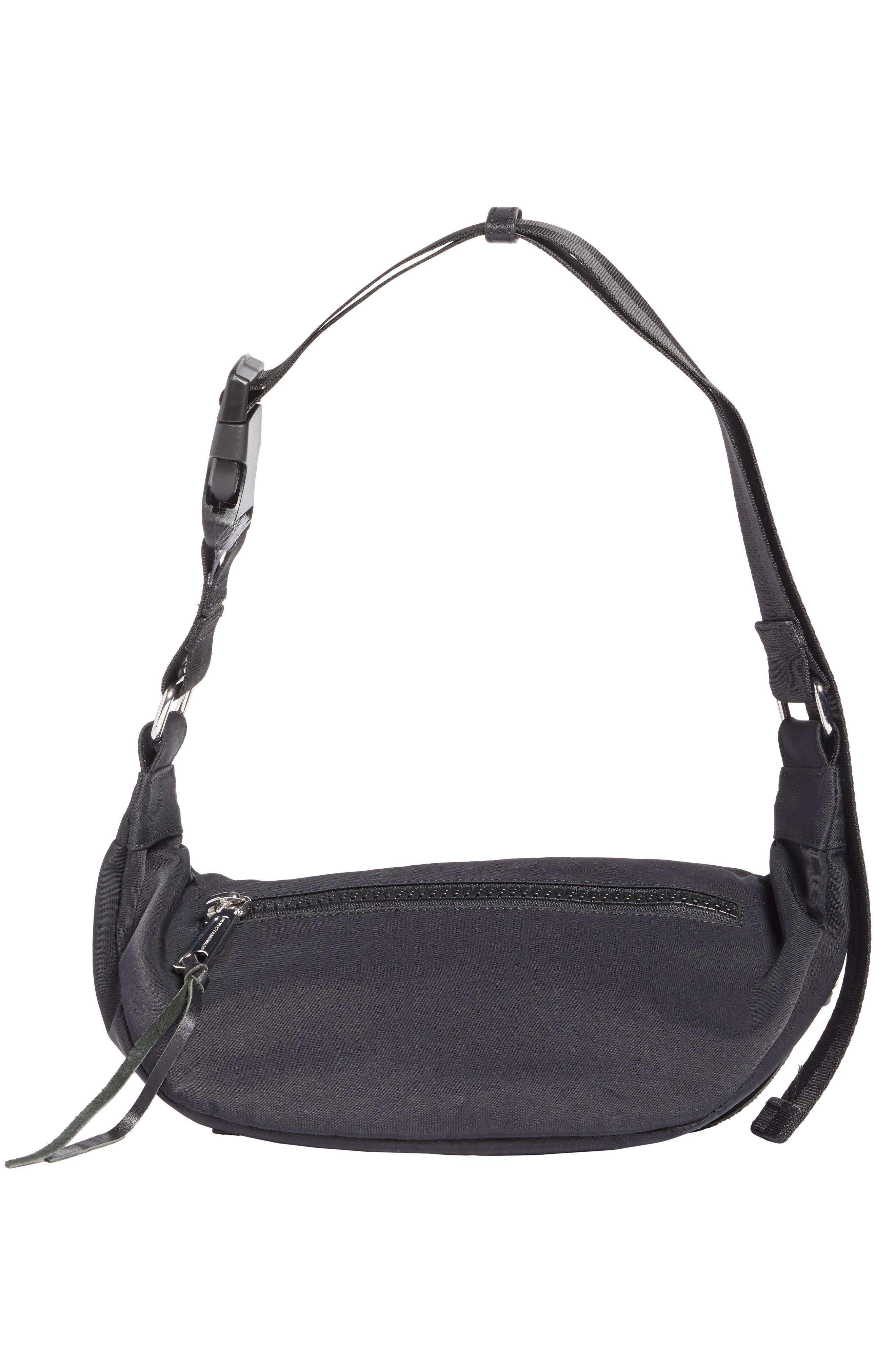 REBECCA MINKOFF, Nylon Belt Bag, Alternate thumbnail 7, color, BLACK