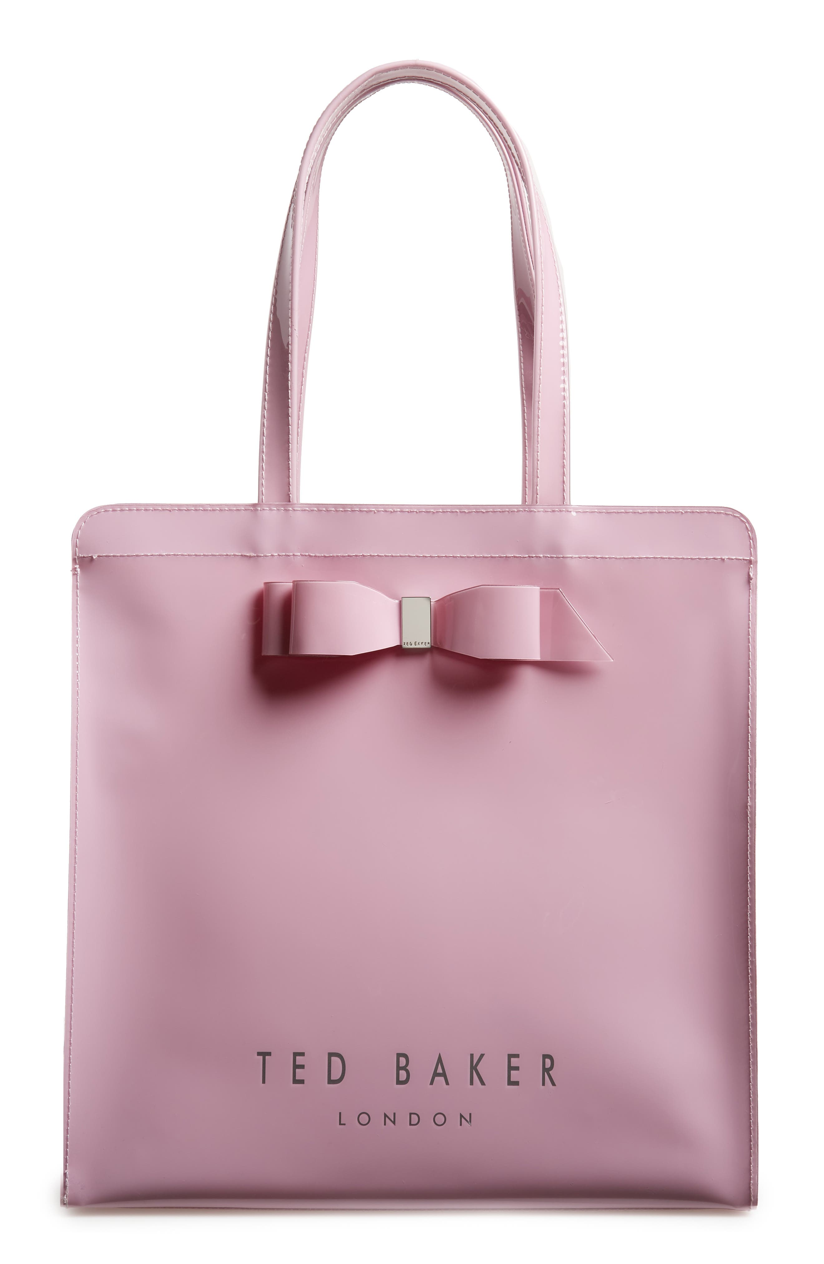 TED BAKER LONDON, Large Almacon Bow Detail Icon Tote, Main thumbnail 1, color, LIGHT PURPLE