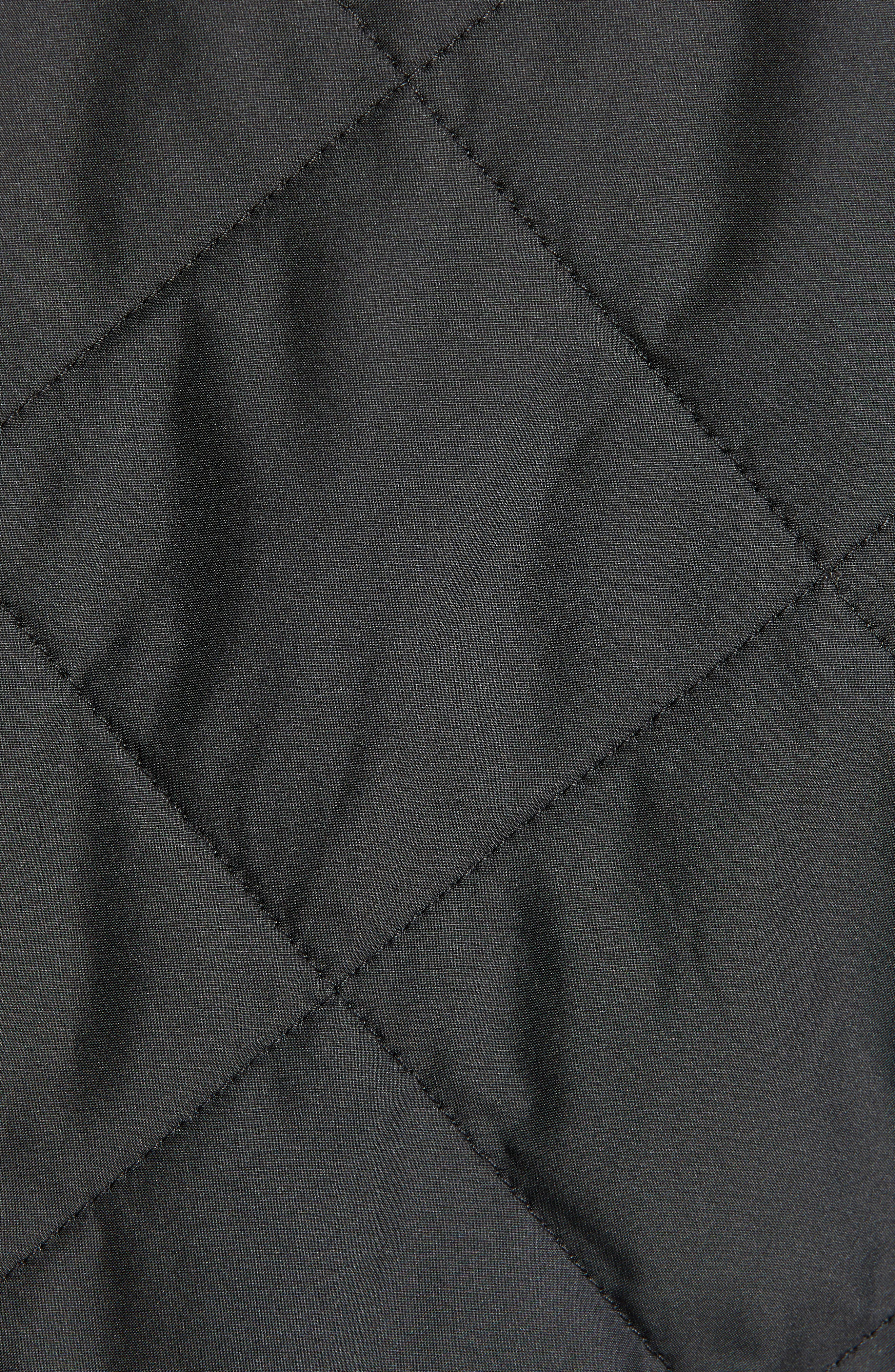 PATAGONIA, Diamond Quilt Ripstop Hooded Jacket, Alternate thumbnail 6, color, 001